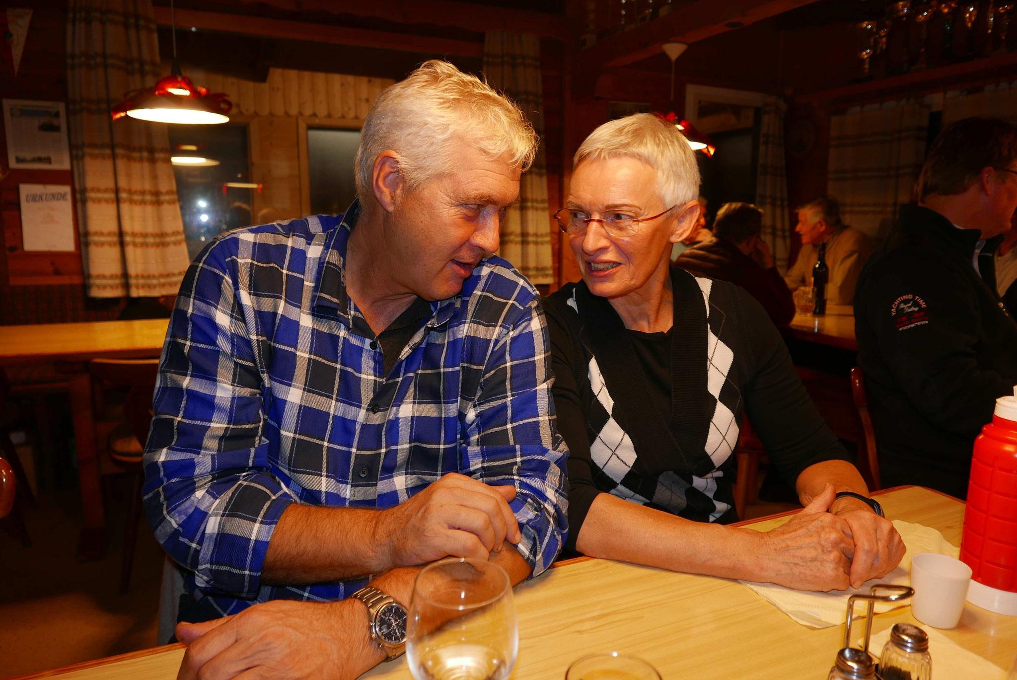 Hannes und Feili fachsimpeln