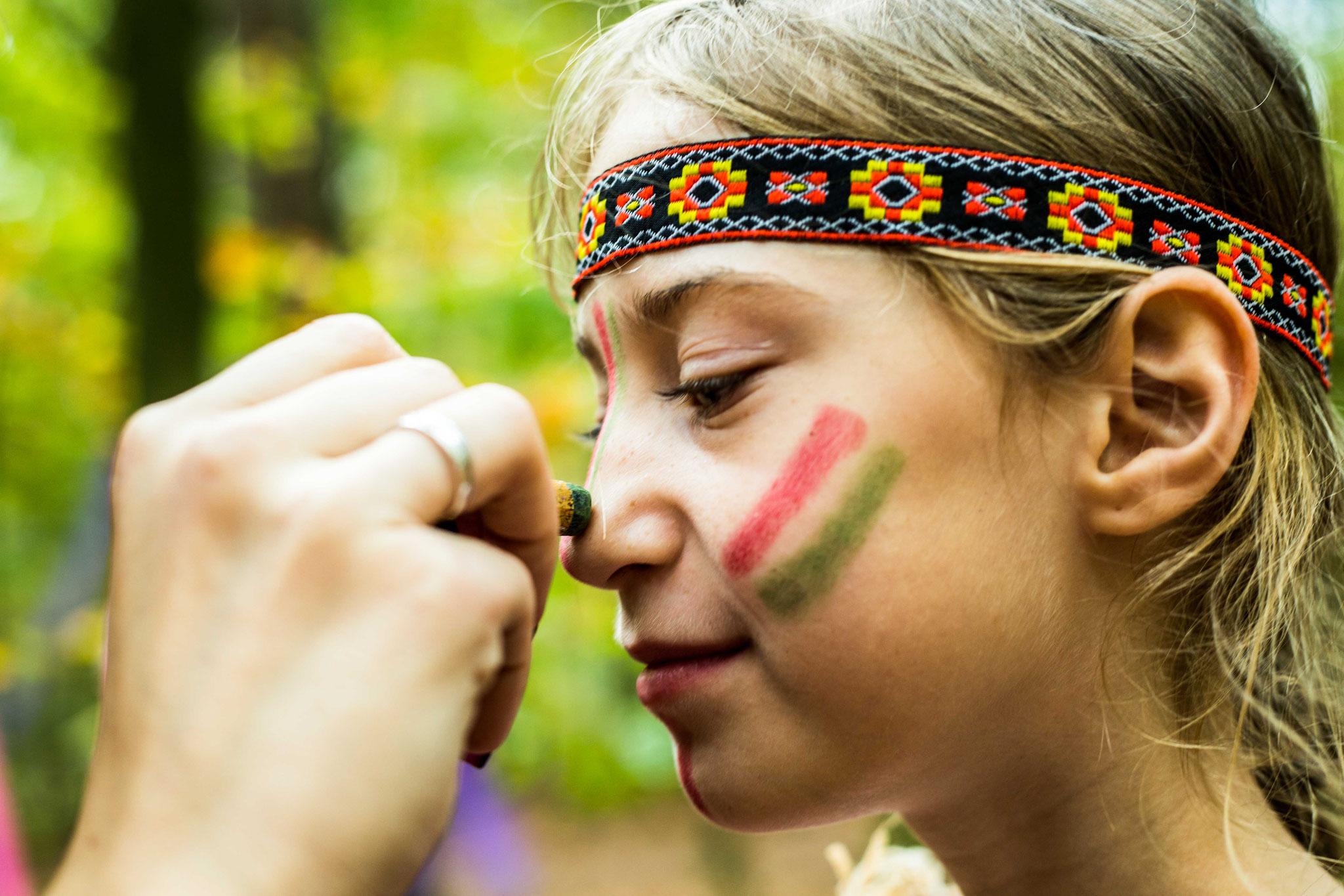 Indianergeburtstag im Wald