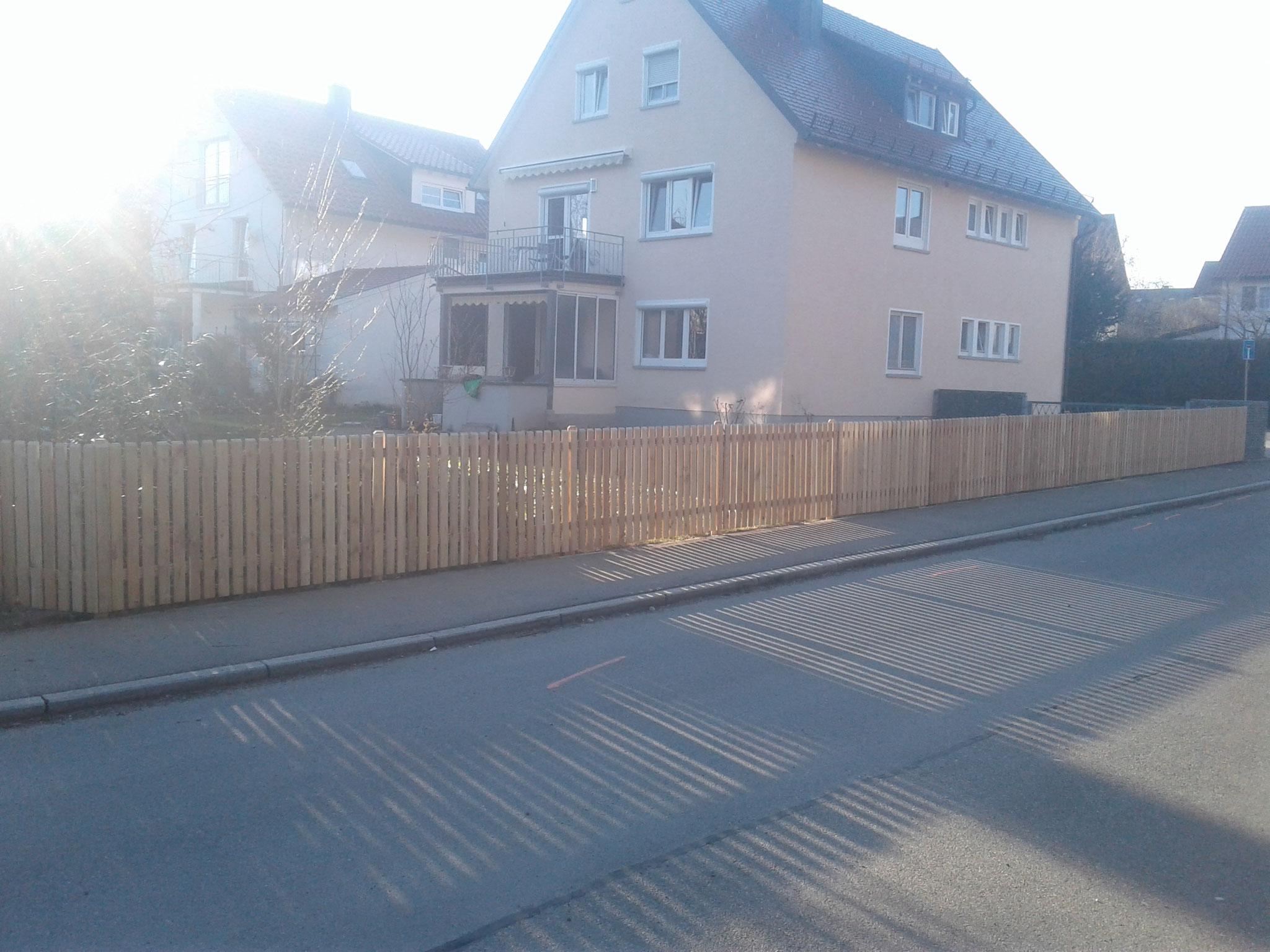Zaunprojekt in Wangen