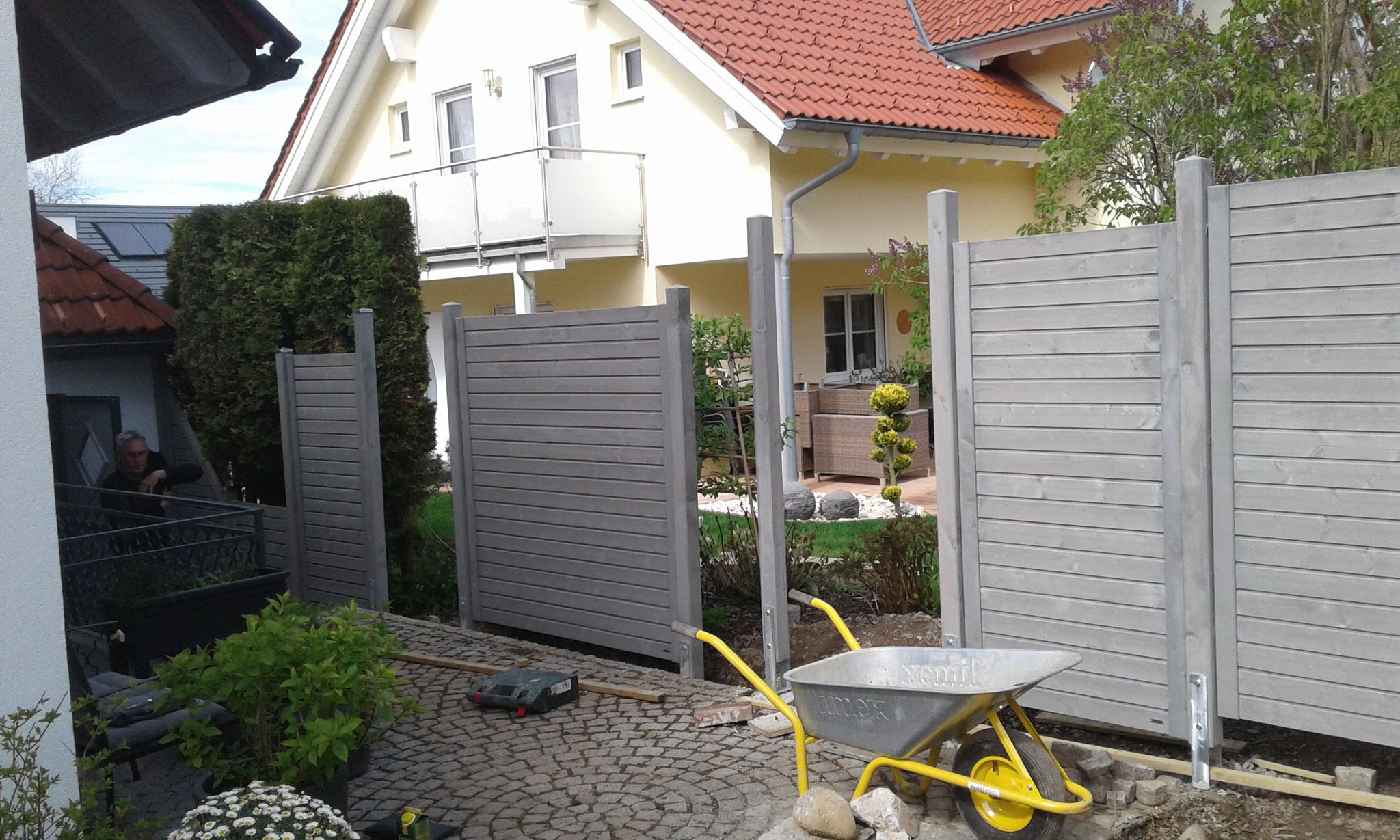 Gartenprojekt Wangen 2017 - BAUPHASE