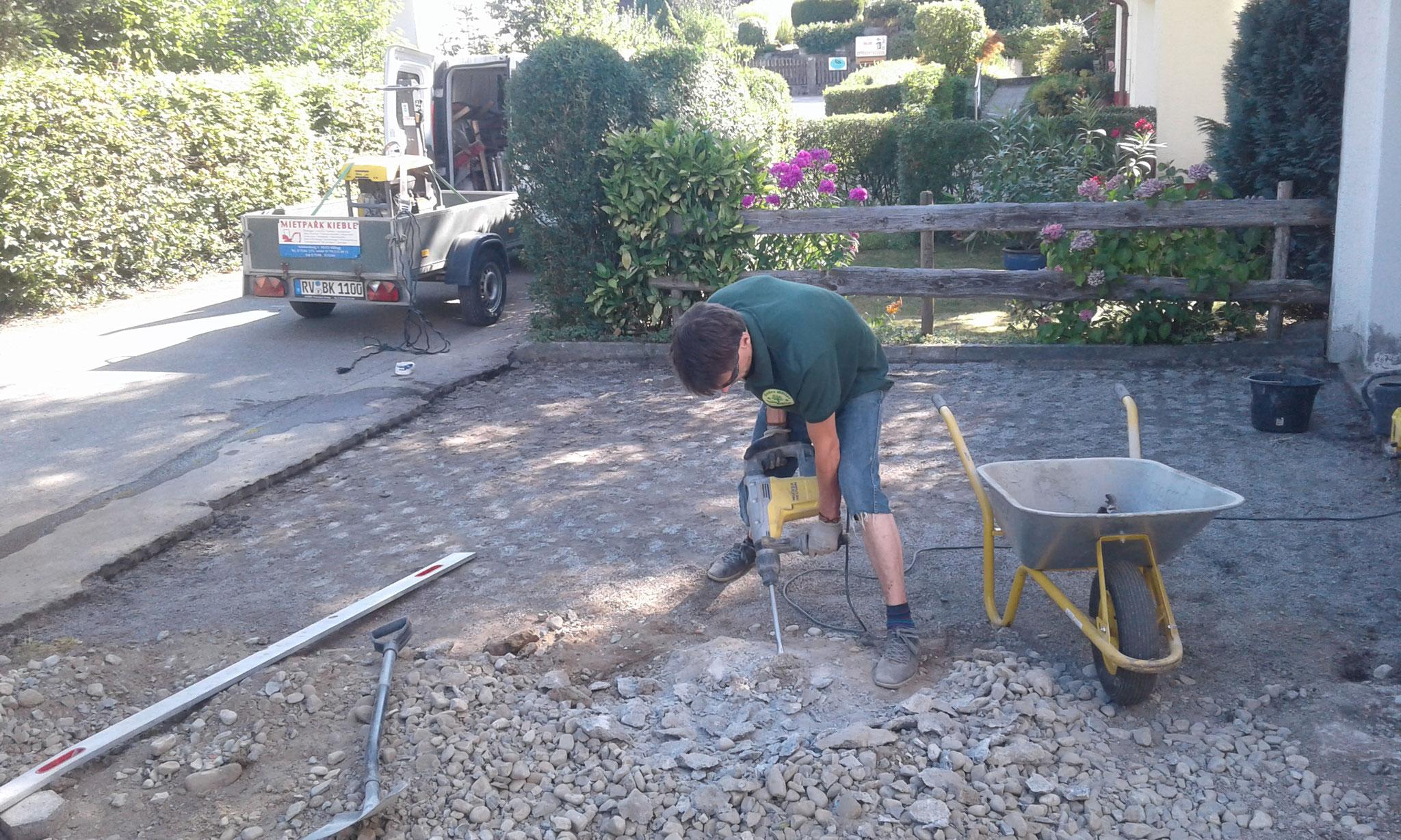 Pflasterprojekt in Wangen - Bauphase