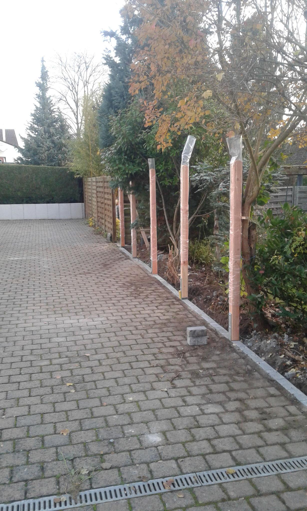 Zaunbauprojekt Mainz - Aufbau