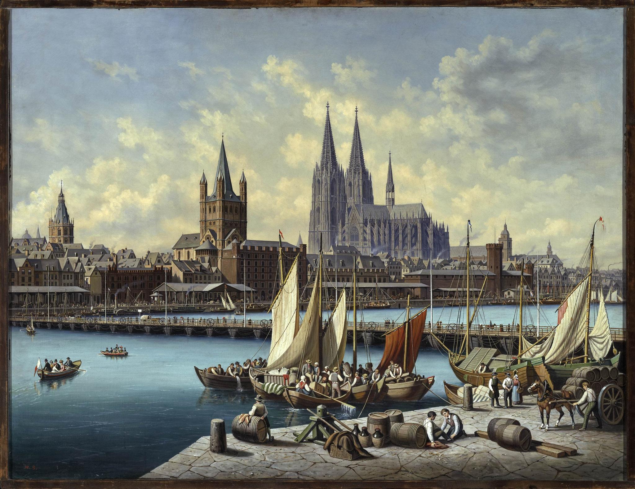 Hubert Sattler (1817–1904), Kosmorama: Köln am Rhein, 1890–1900, Öl auf Leinwand © Salzburg Museum