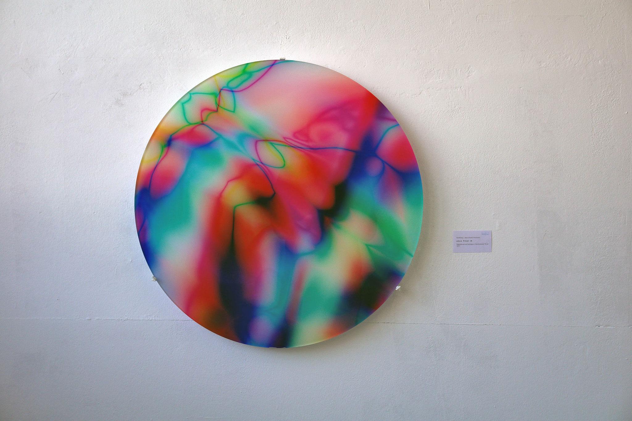 Digitaldruck auf Acrylglas, Durchmesser 70cm, 2017, Jean-Claude Houlmann