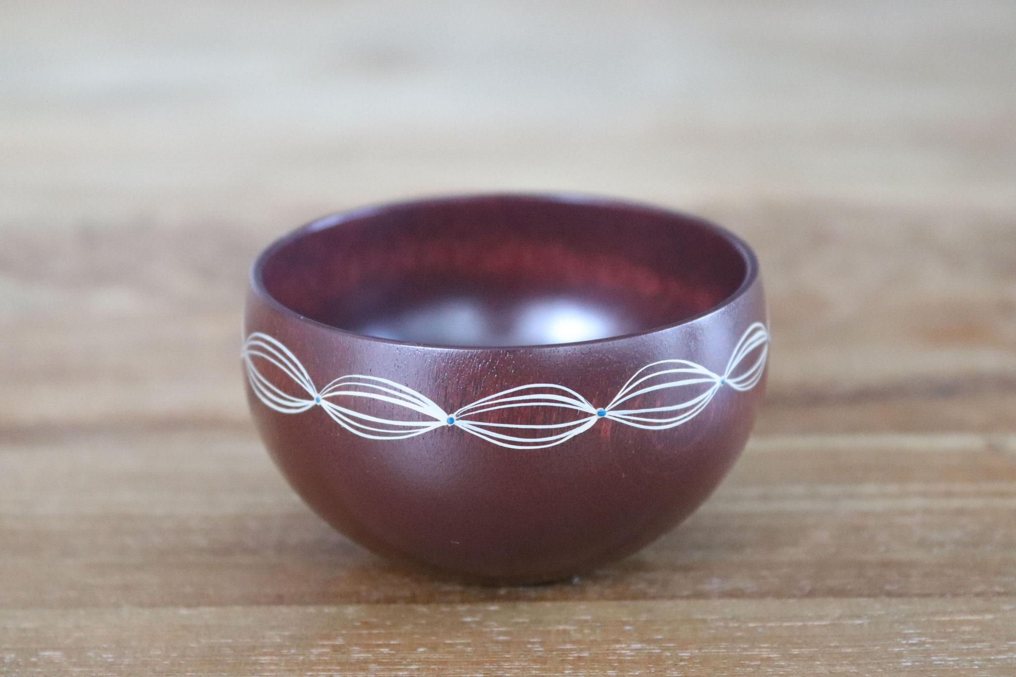 Lacy purple sake cup