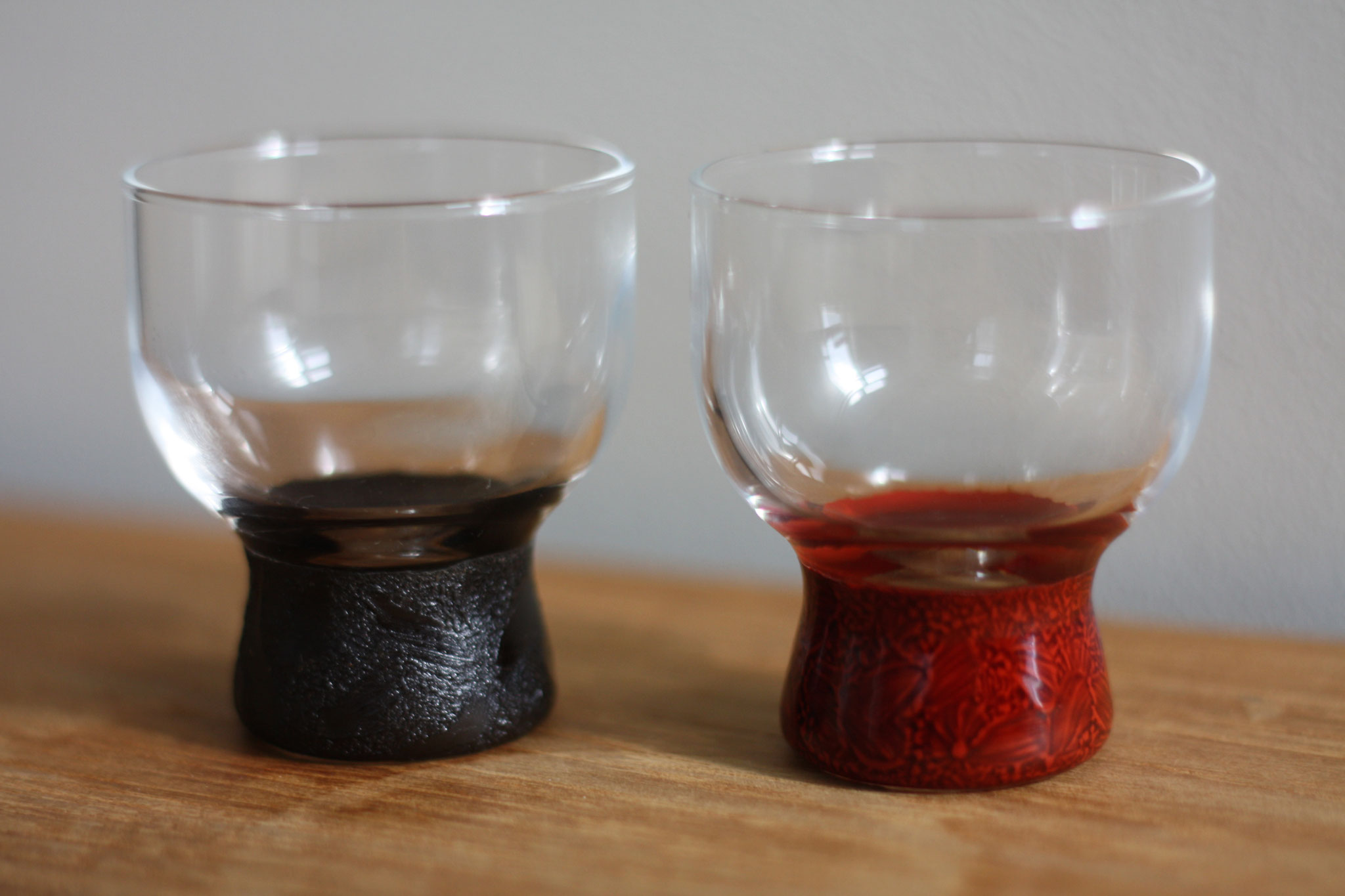paired glass sake cup