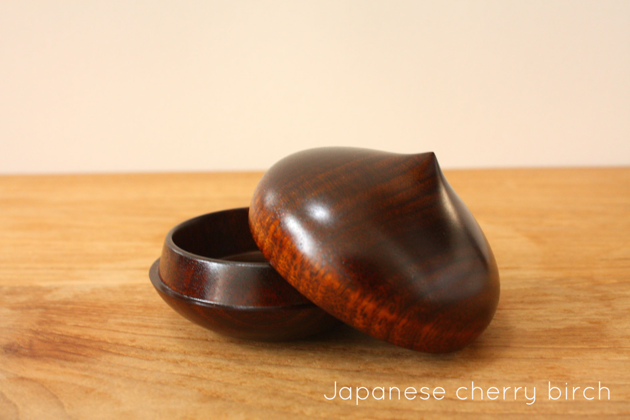 marron dome box Japanese cherry birch