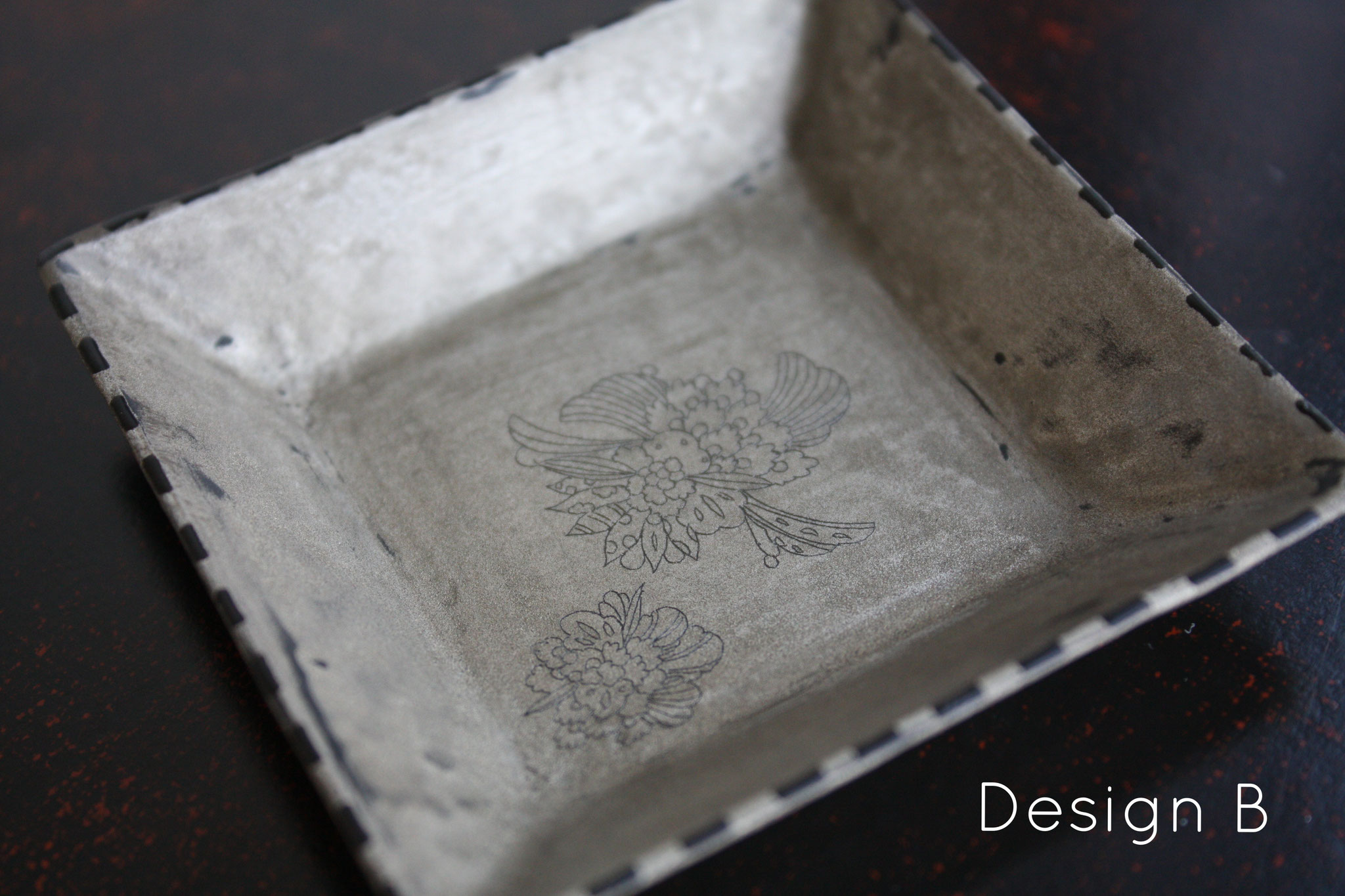"square mini plate ""wildflower"" design B"