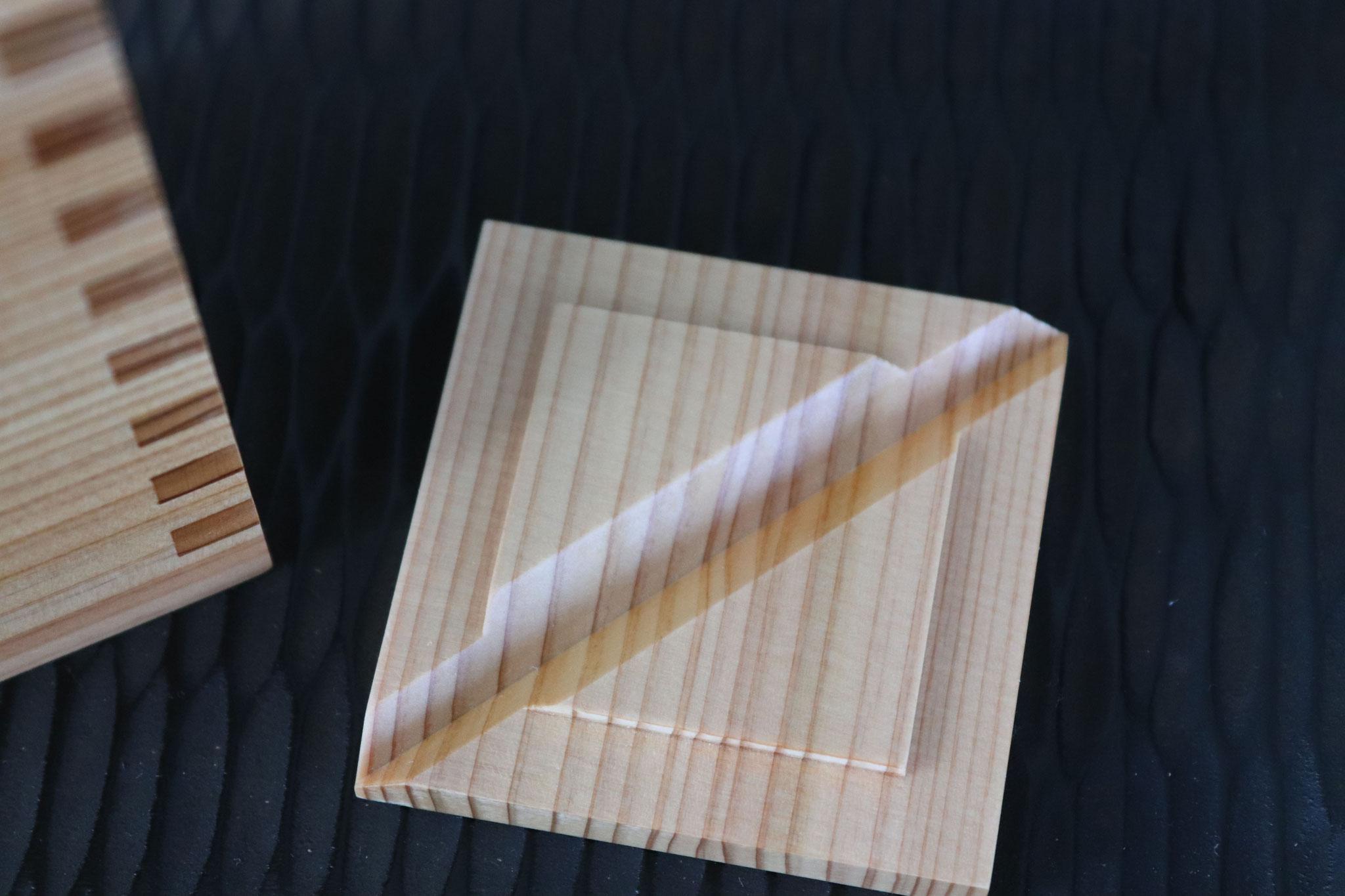 Japanese cedar Sake server, lid
