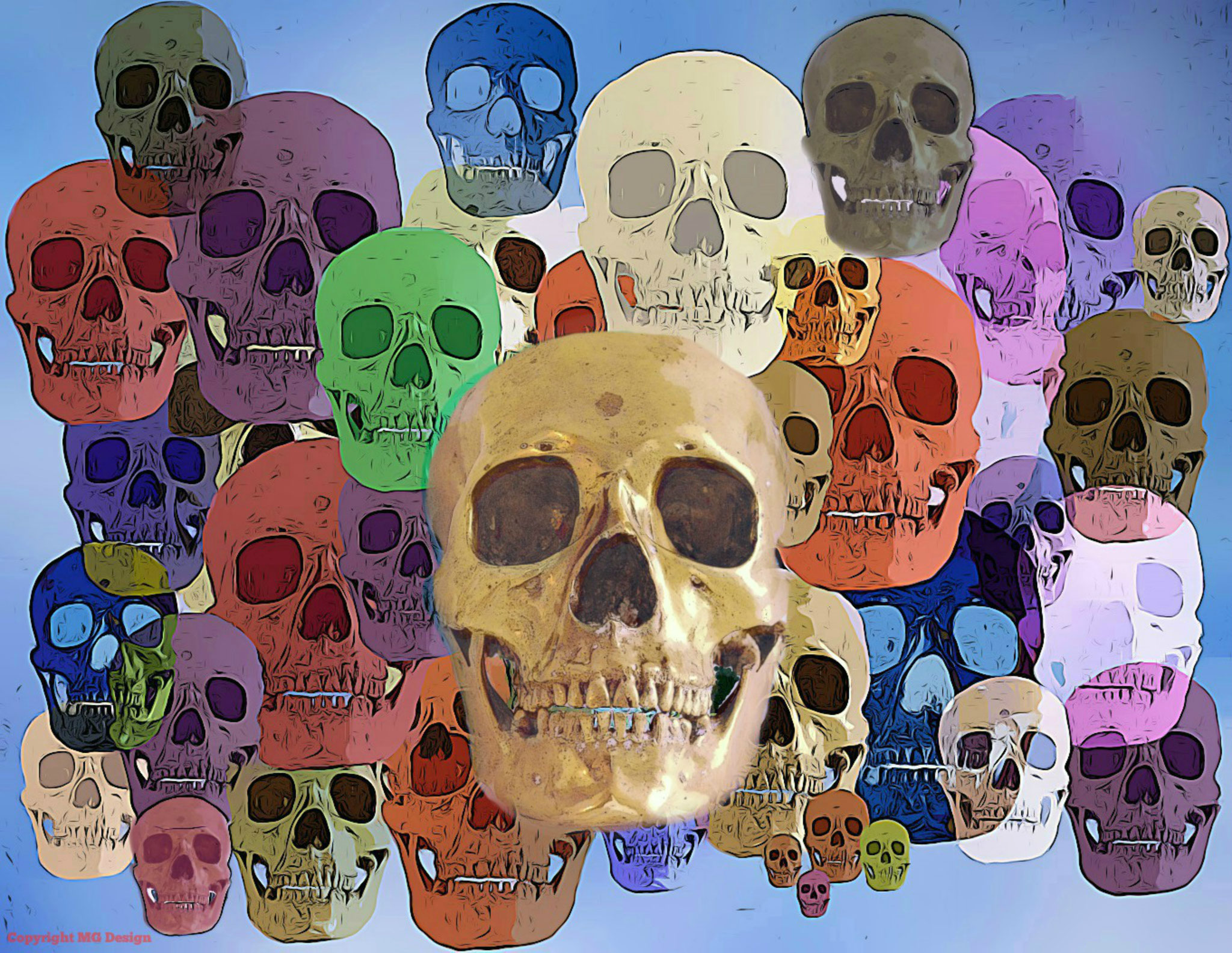 Coloured Skulls