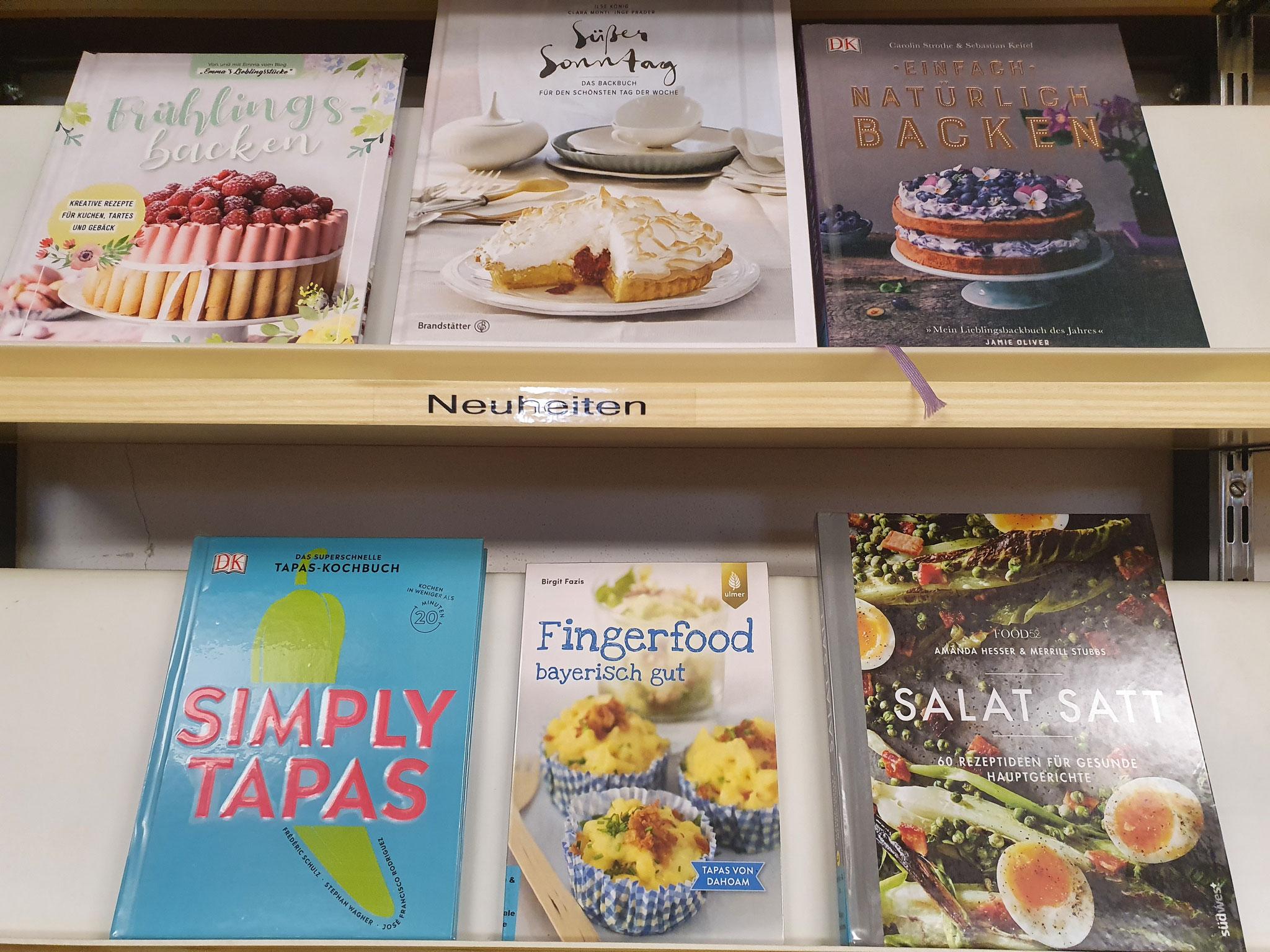 Neue Koch- und Backbücher