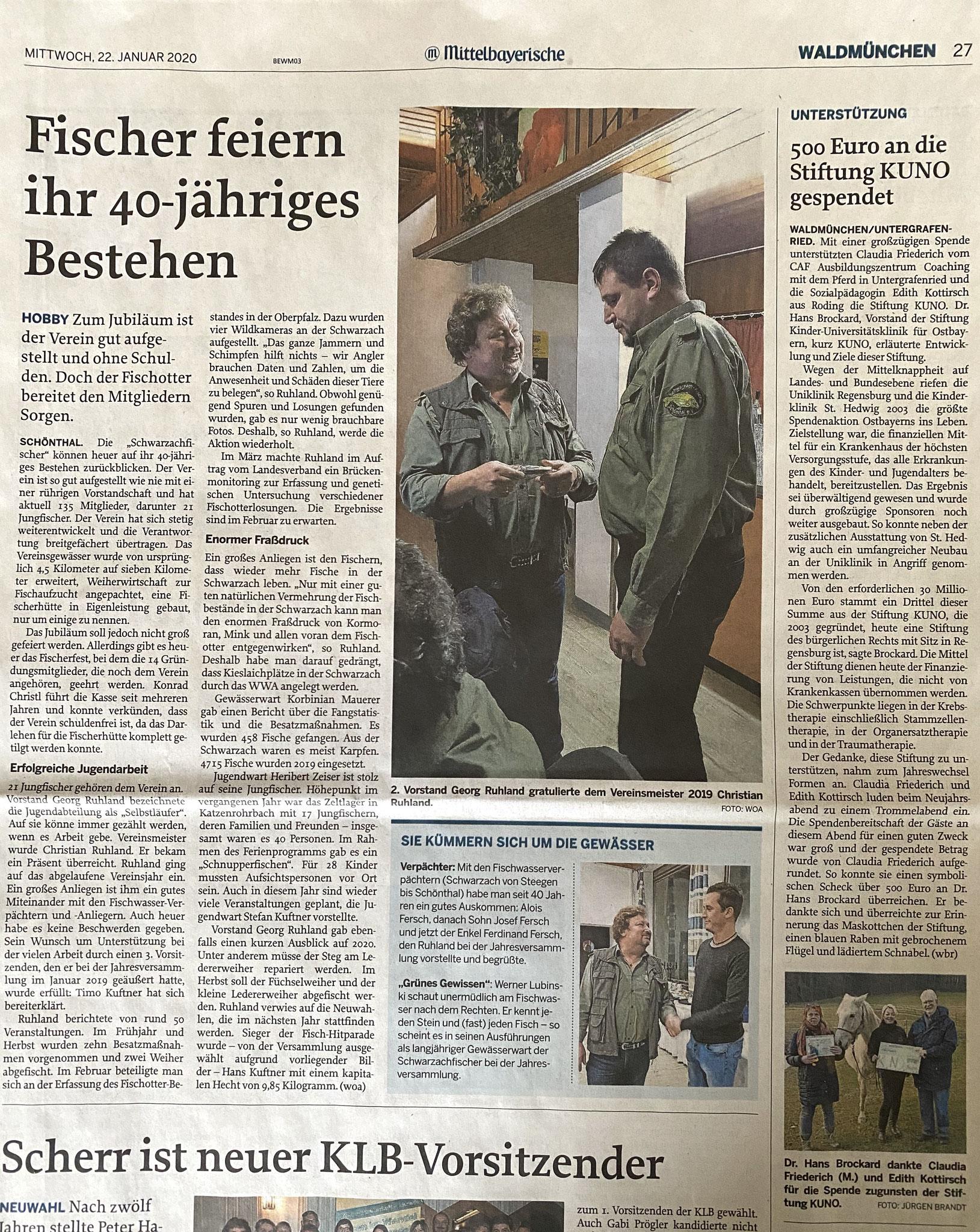 Herzlichen Dank liebe Bayerwald Echo für diesen Artikel!