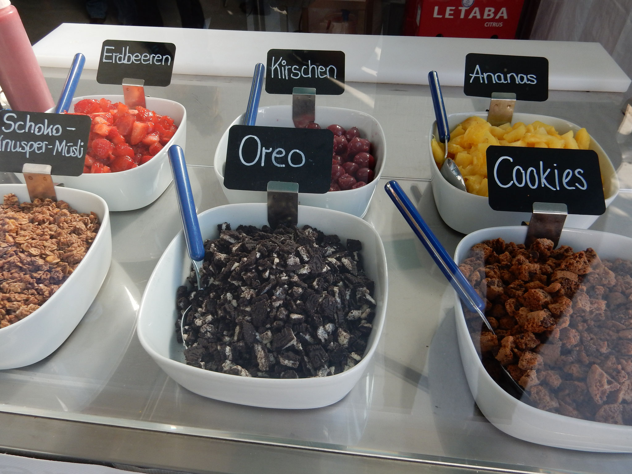 frozen yogurt Toppings - fruchtbar mobil