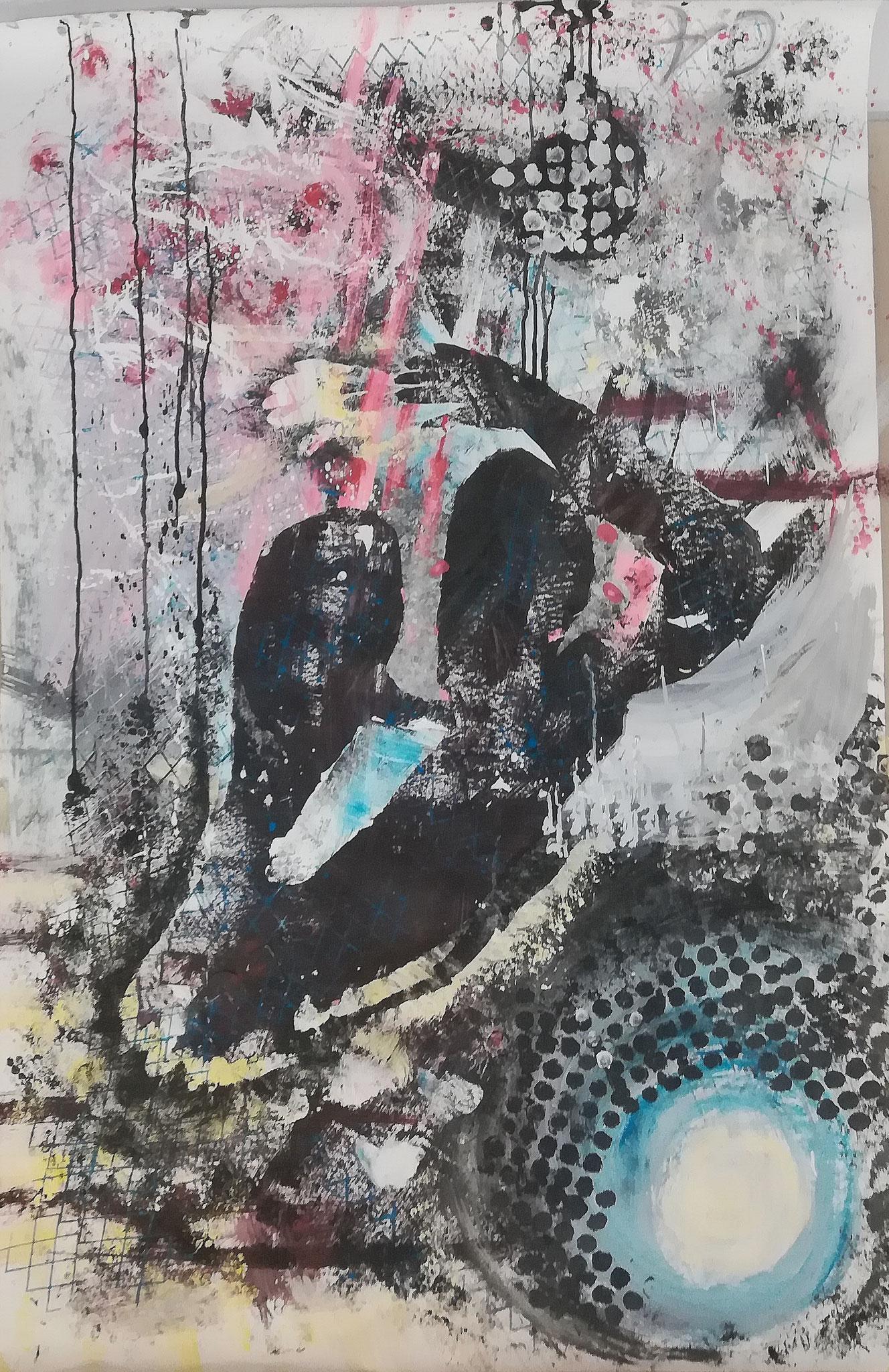 No 2, 156x100, Acryl auf Papier, 2020