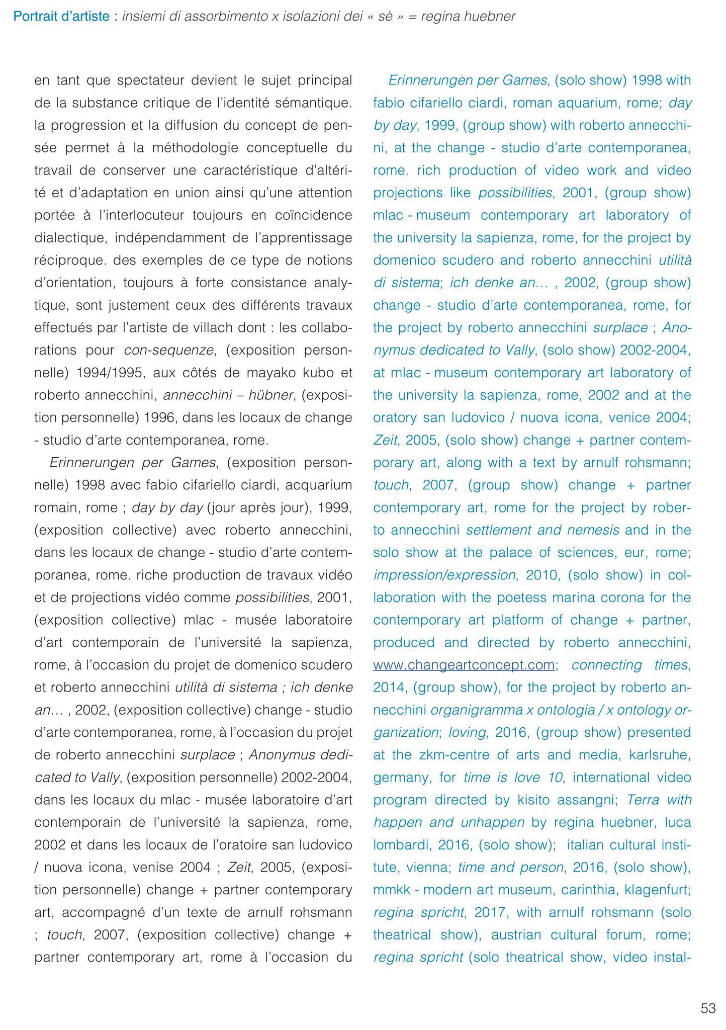 Roberto Annecchini, assorbimento x isolazioni dei sè