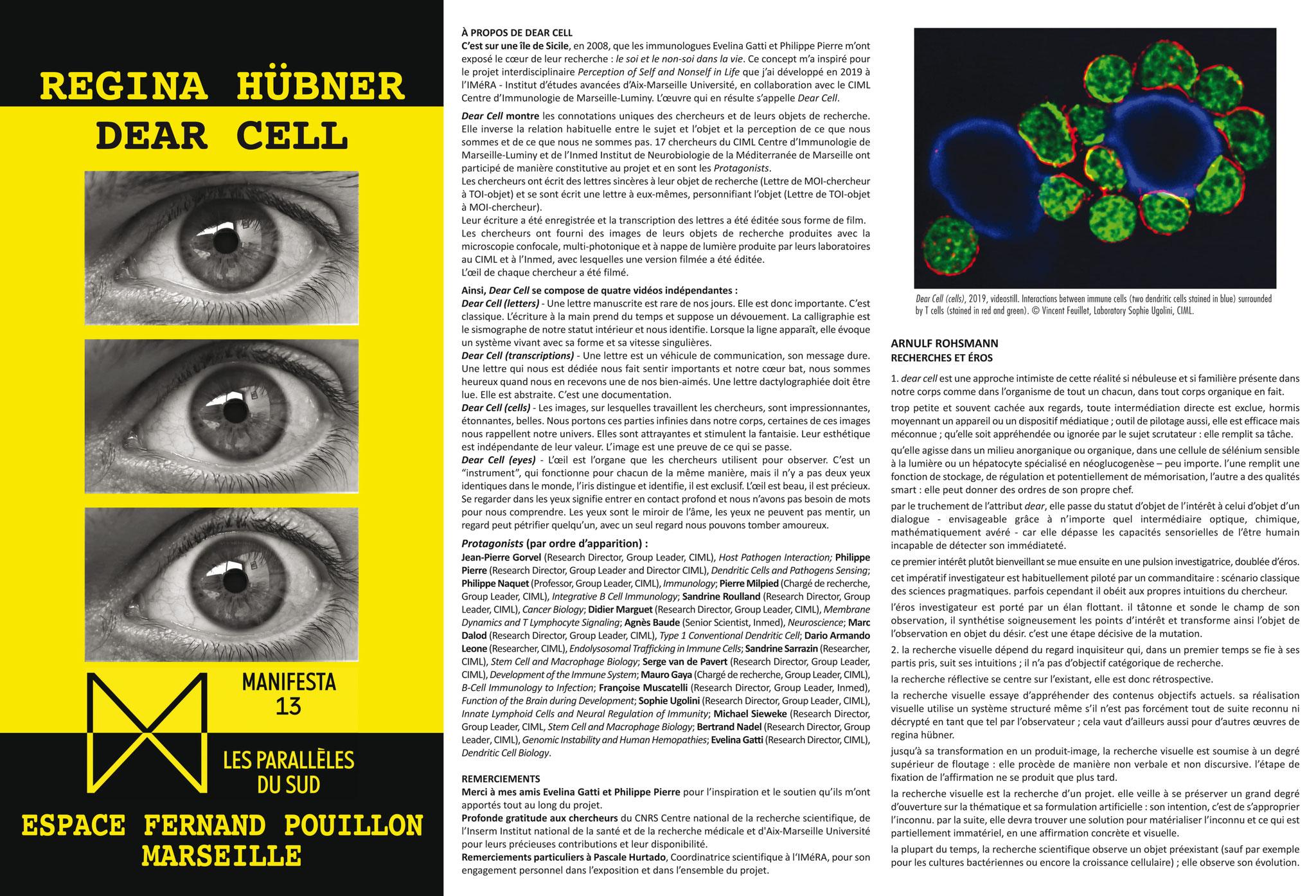 MANIFESTA 13 - Regina Hübner - Dear Cell