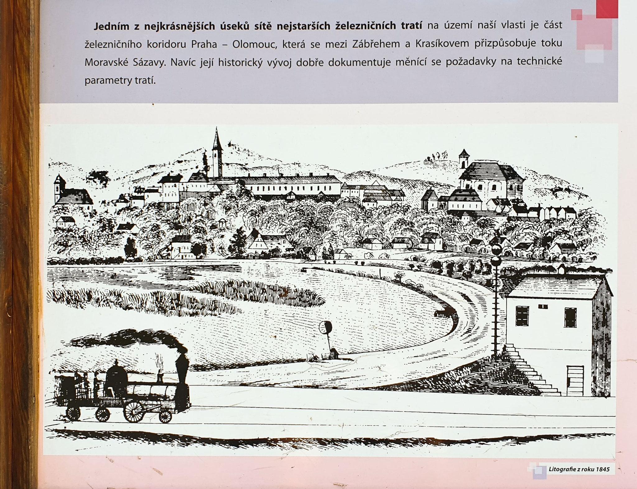 Bahntrasse Hostejn - Lupené (Zabreh), von früher