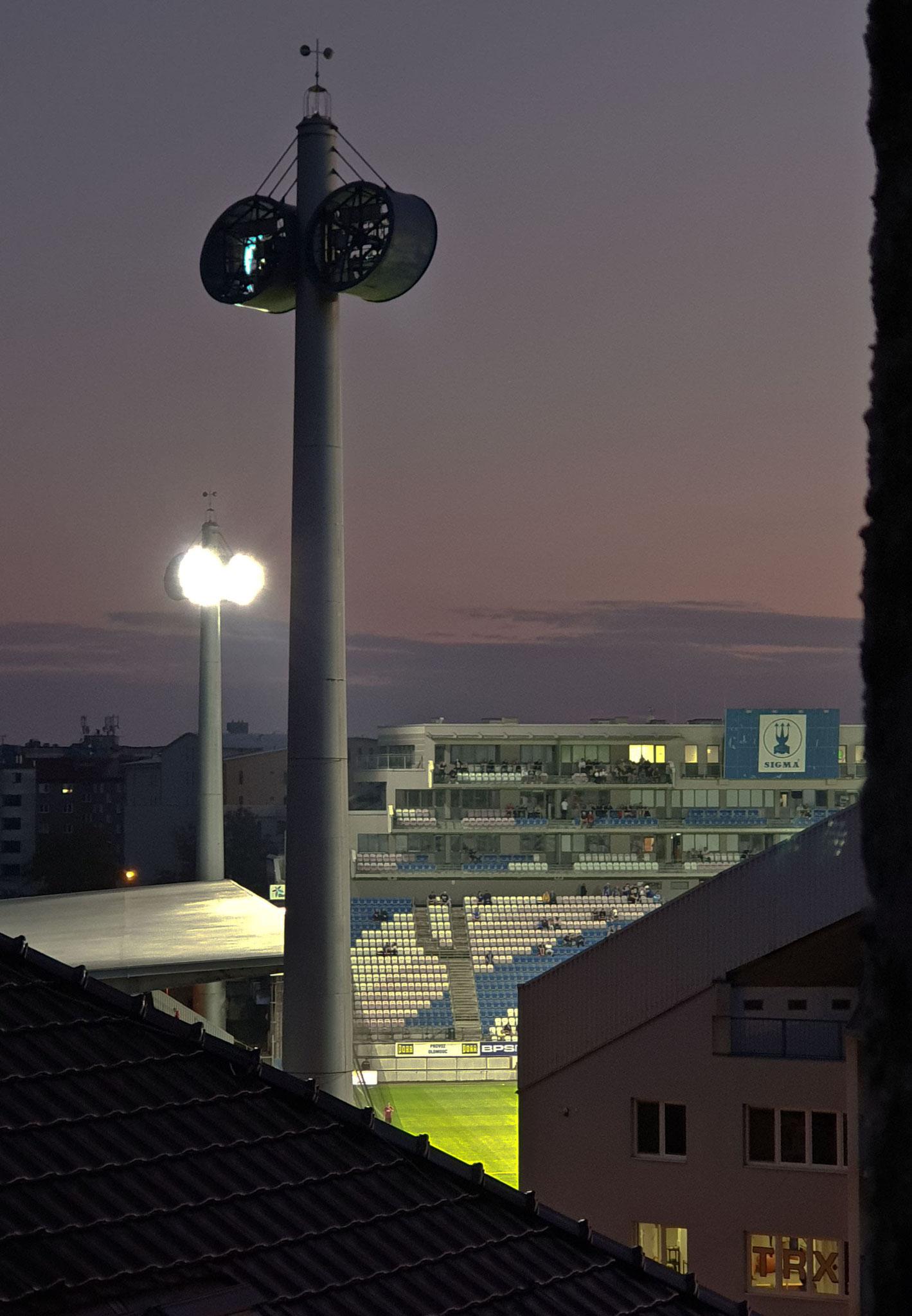 Olomouc, im Stadion gab es Fußball