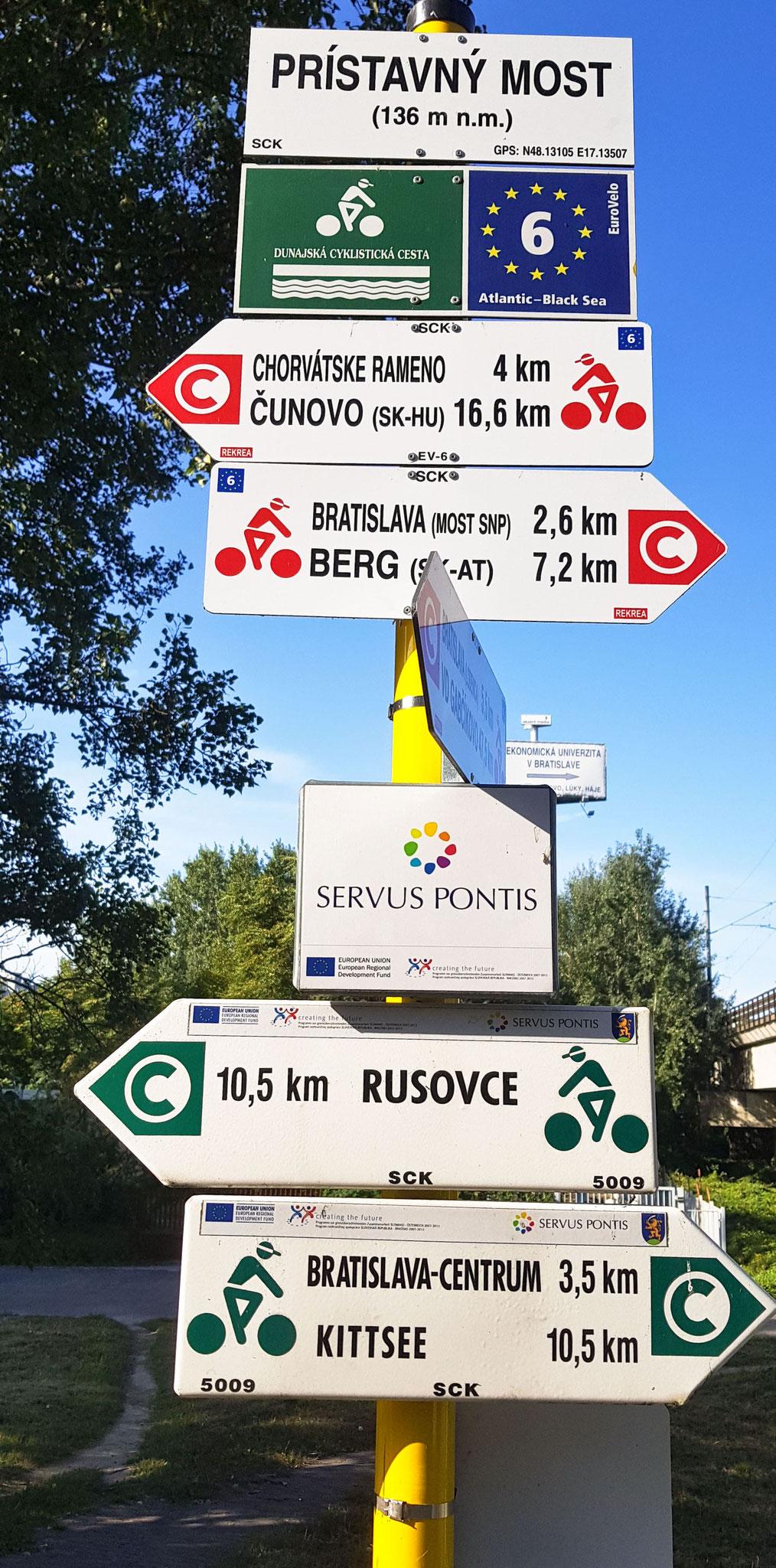 Donauradweg, wir verlassen Bratislava