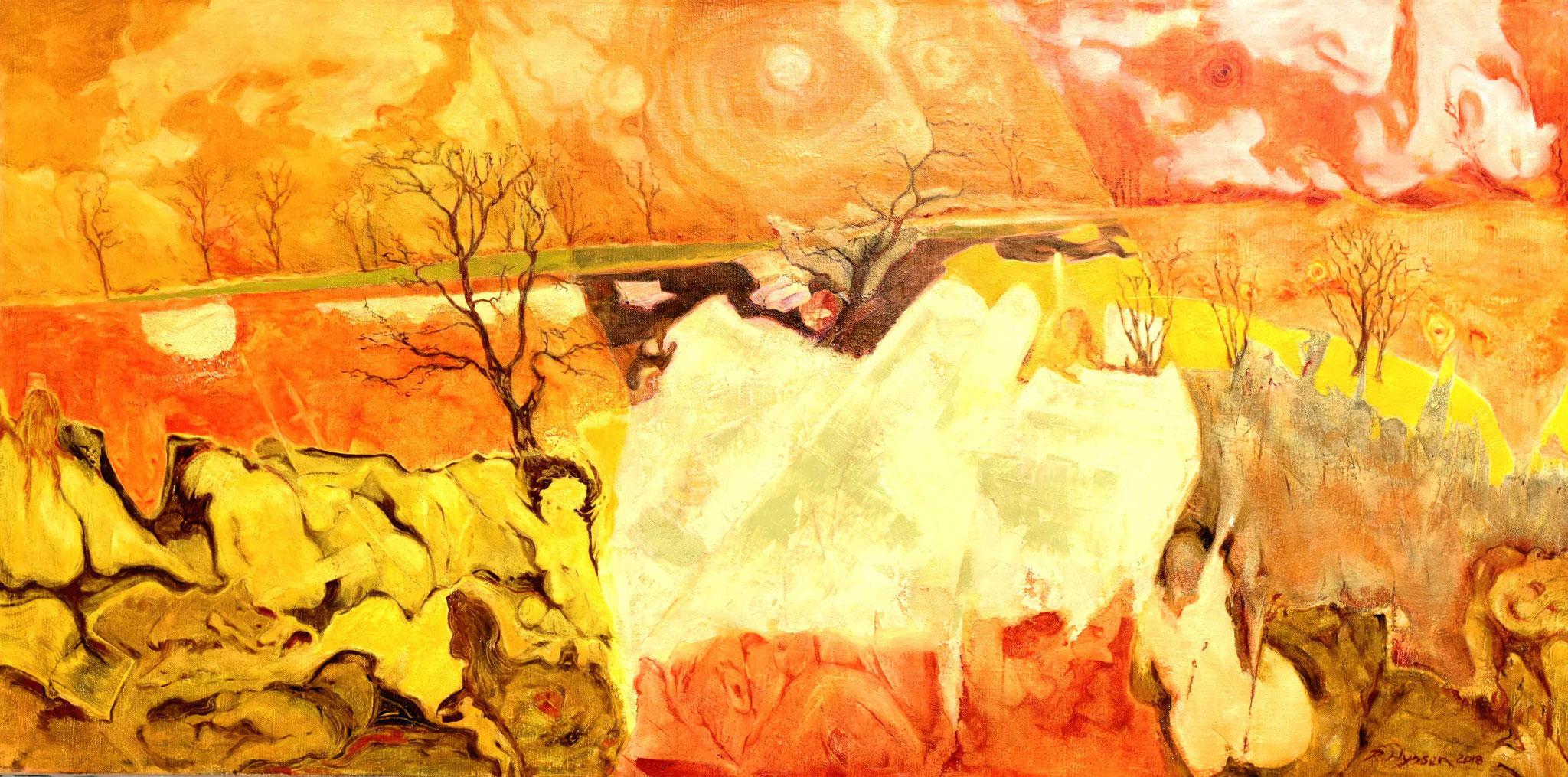 """Trisolaris I""-2018-Öl auf LW-80-160cm / oil on canvas"