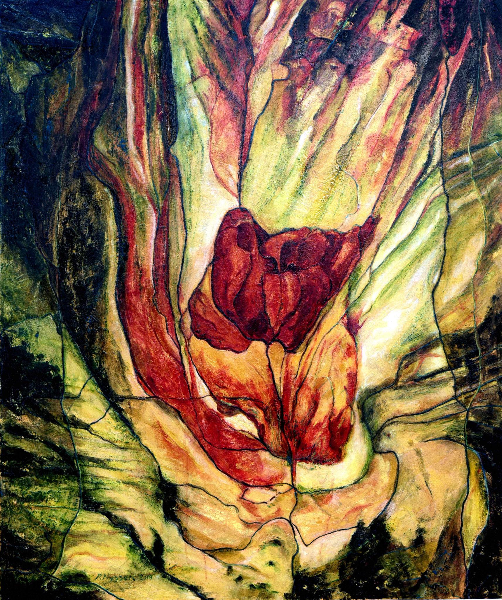 """Letzte Rose""-2018-Öl auf LW-120*100cm / Last rose- oil on canvas"