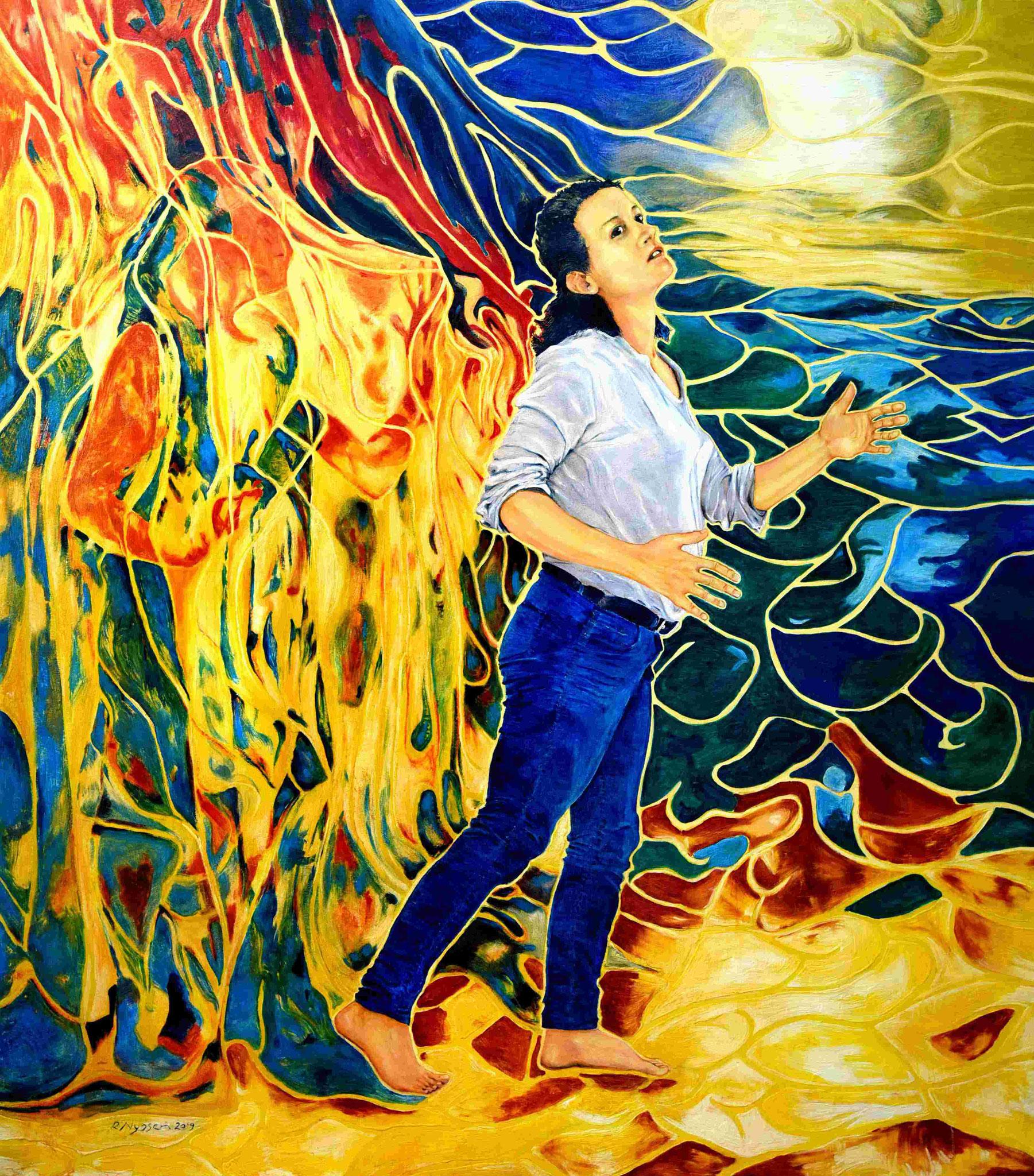 """""""Metamorphose (Maria Magdalena)""""-2019-Öl auf LW-160*140cm / Metamorphosis (Mary Magdalena)-oil on canvas"""