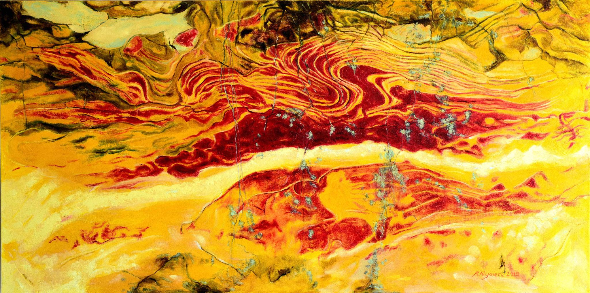 """""""Hatz der Artemis""""-2018-Öl auf LW-80*160cm-Privatbesitz / Hunt of Artemis-oil on canvas"""