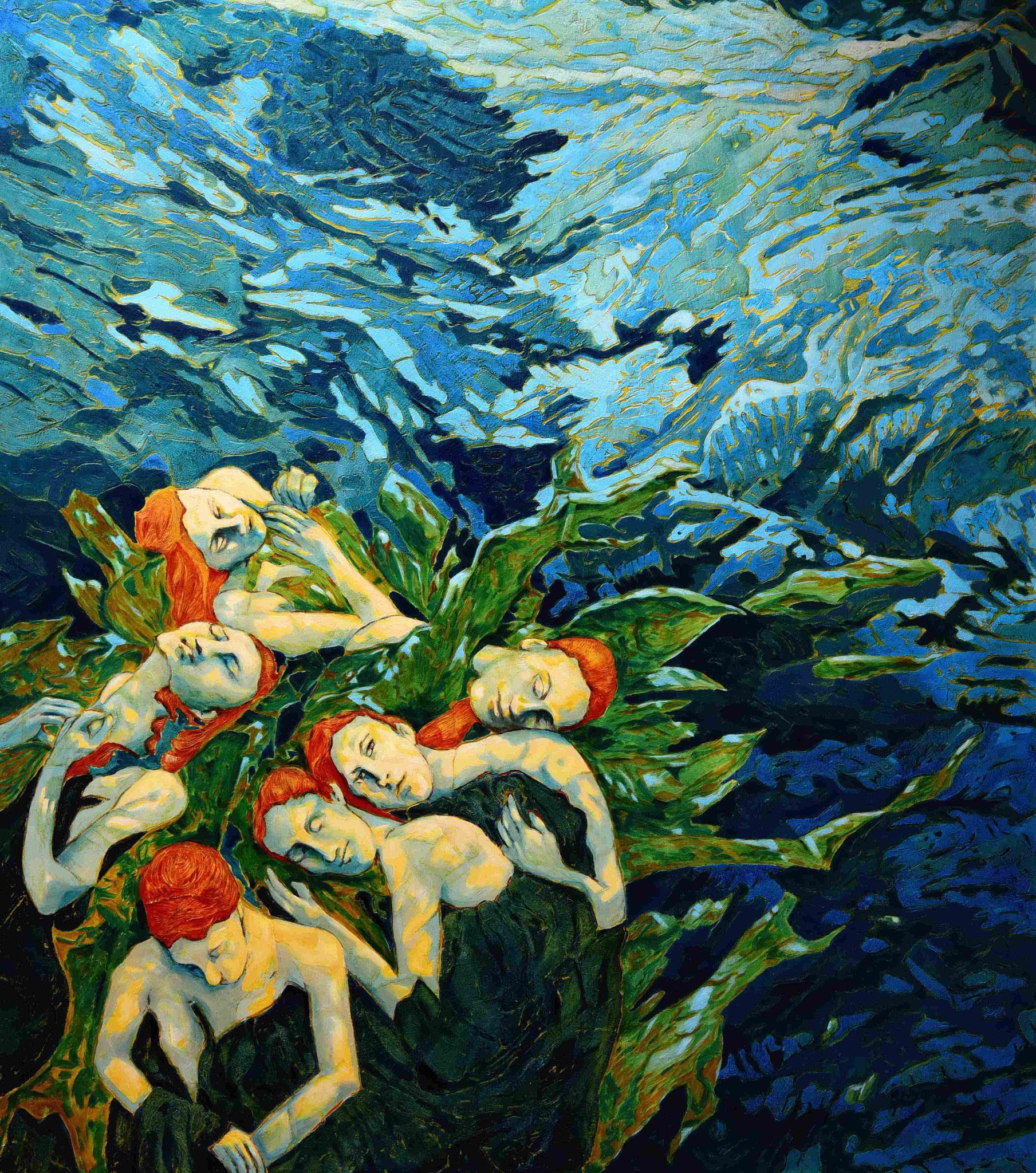"""""""Filitosa XII - Unschuldige Sirenen""""-2020-Öl auf LW-160*140cm"""