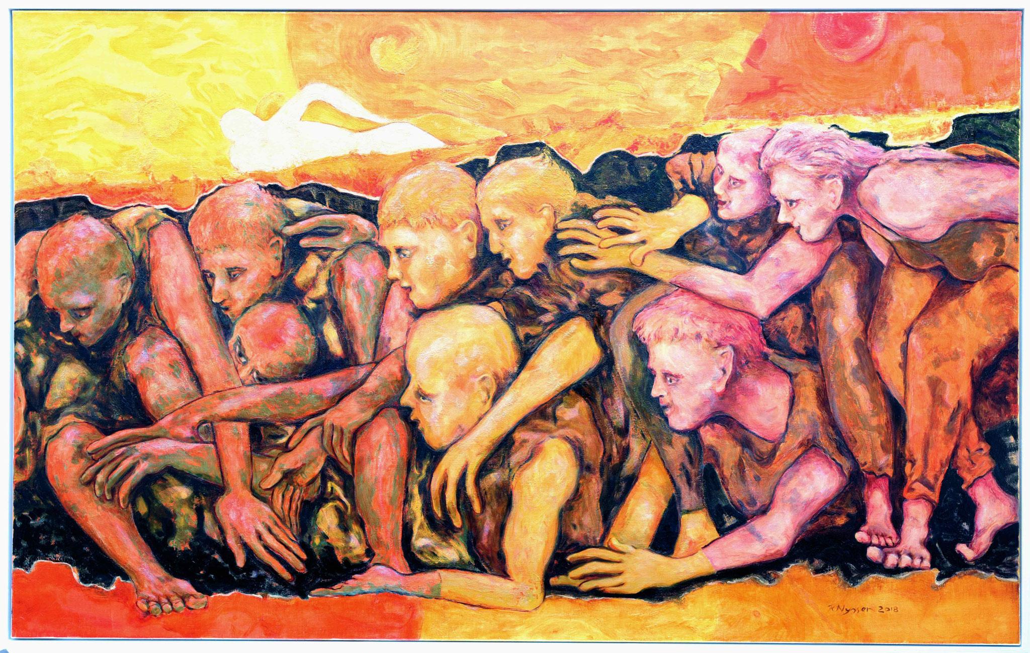 """Trisolaris II""-2018-Öl auf LW-100*160cm / oil on canvas"
