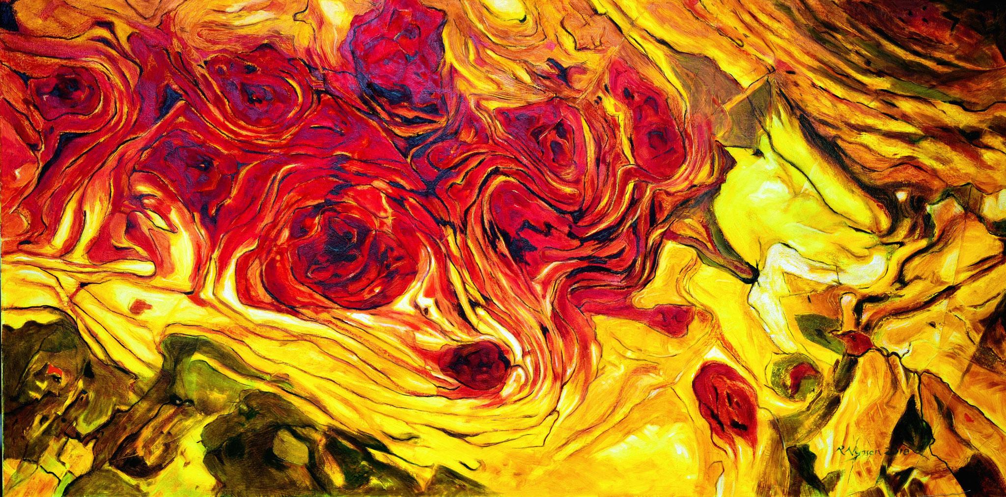 """Blutengel""-2018-Öl auf LW-80*160cm / Blood angel-oil on canvas"