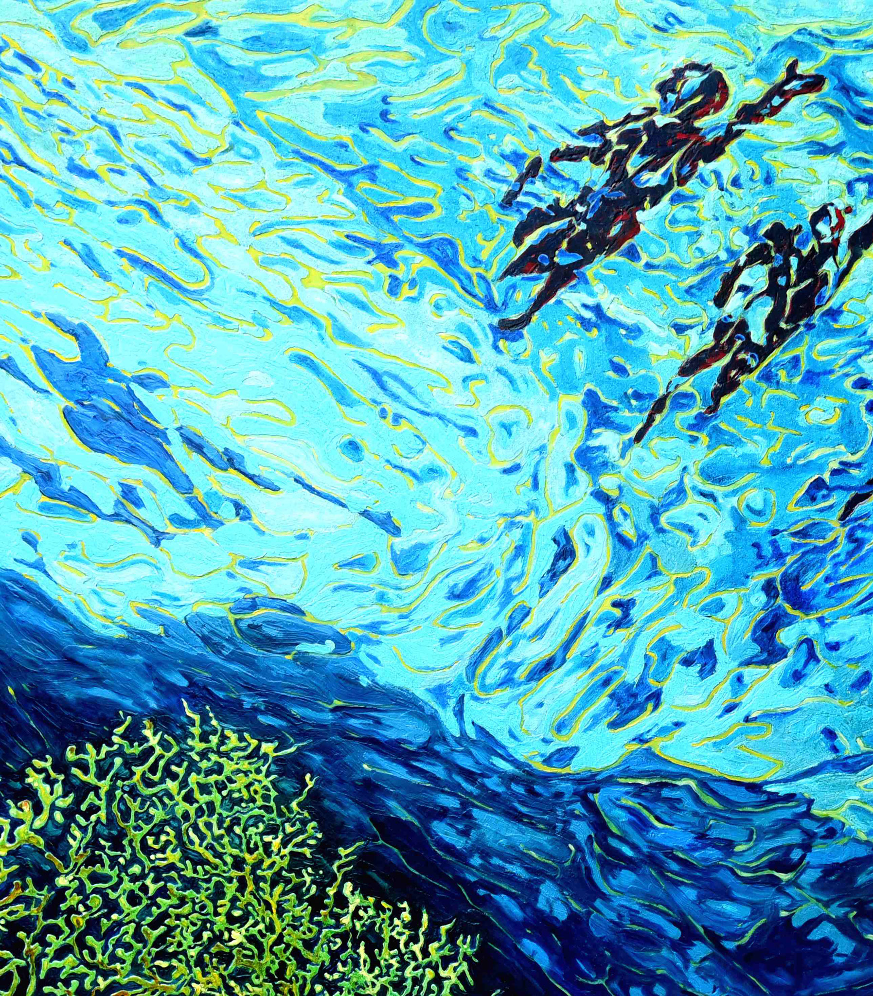 """Filitosa VIII - Meeresblume""-2019-Öl auf LW-140*120cm-Ausschnitt"