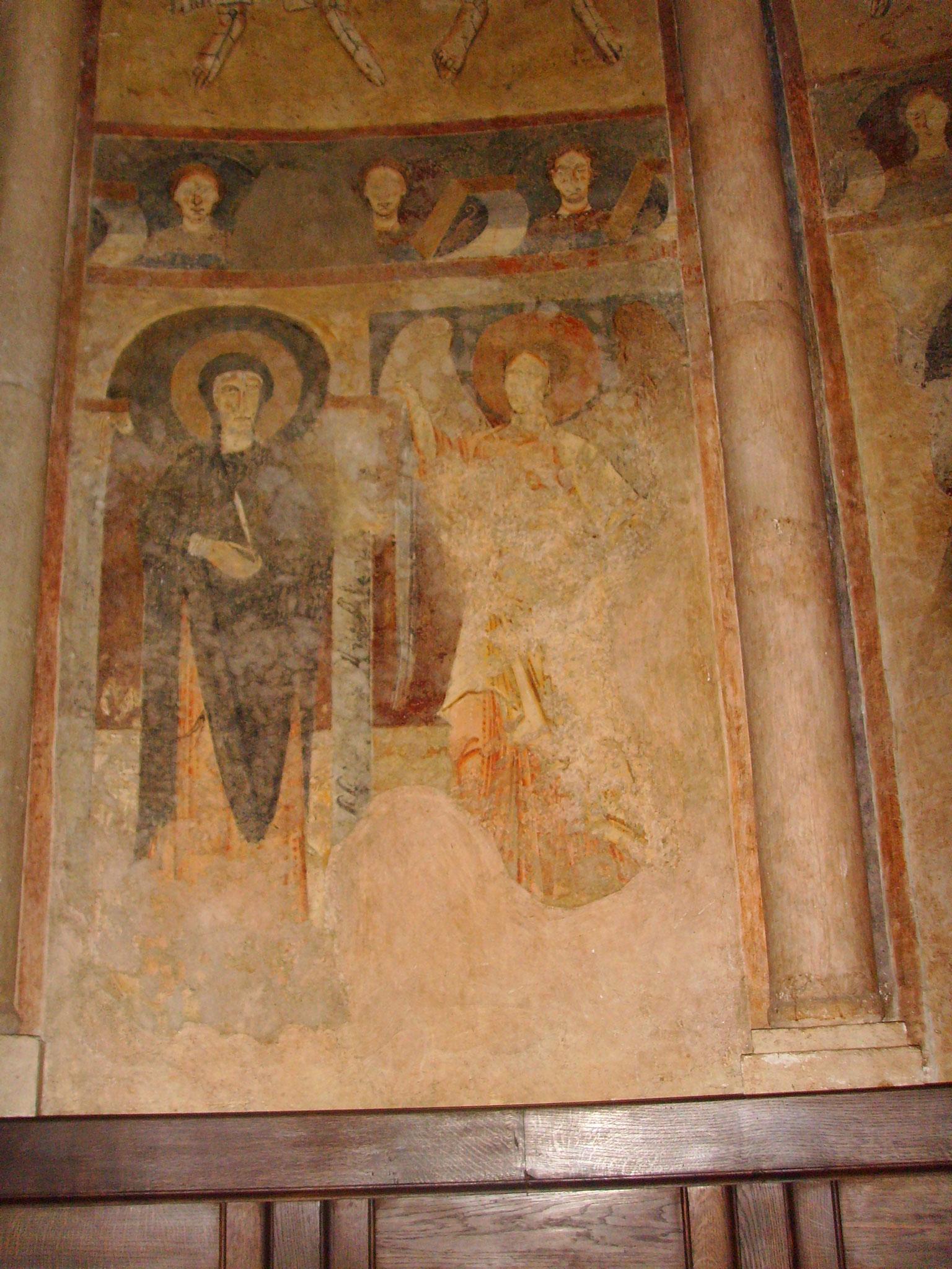 fresques romanes ; église de Saint-Lizier