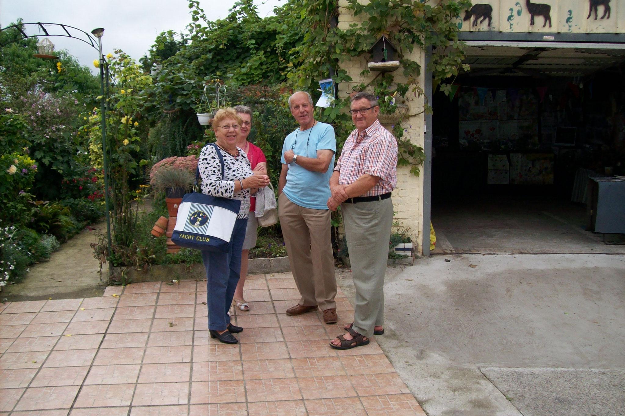 visite du jardin de Gérard