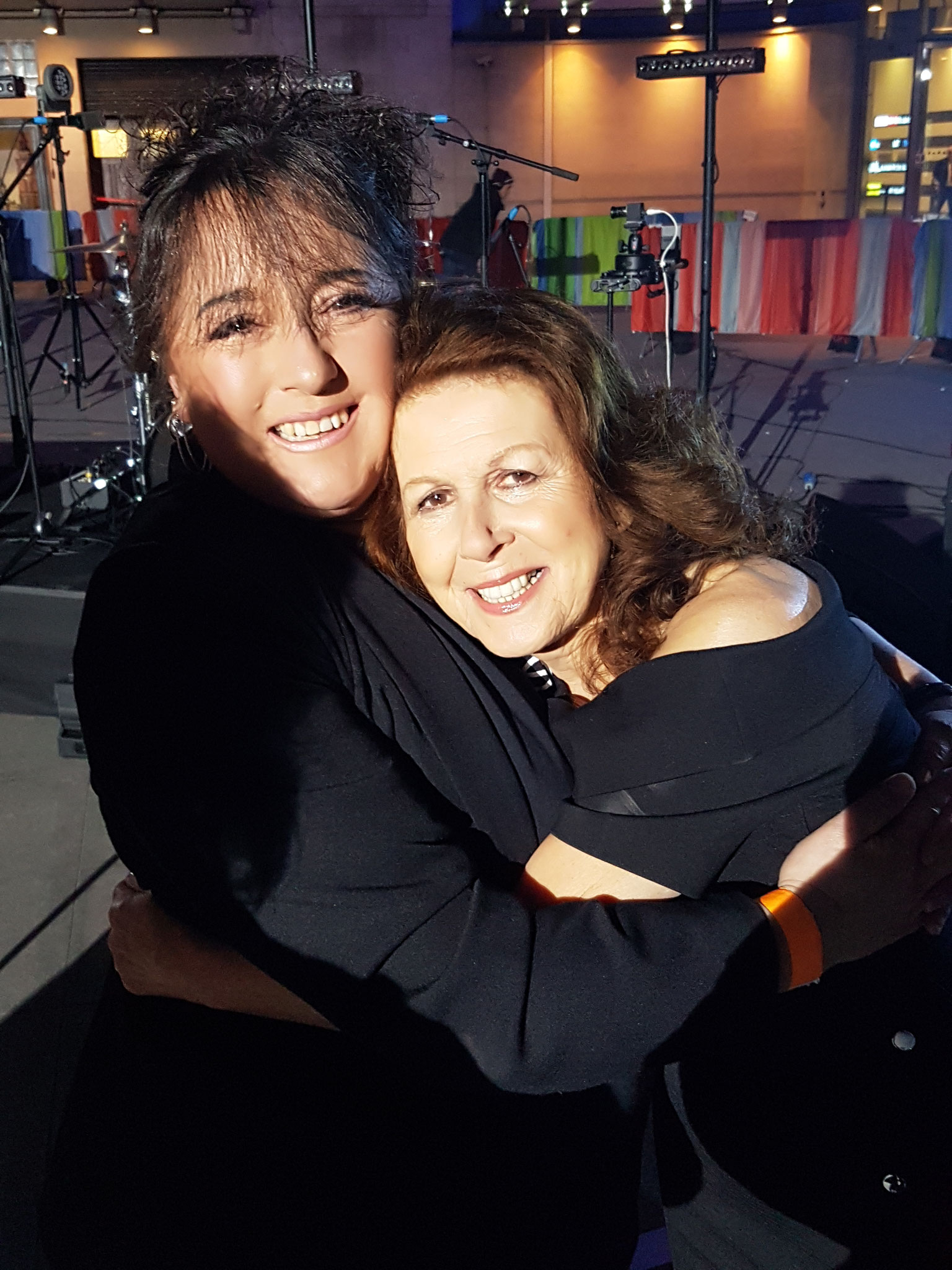 Elkie Brooks and myself, at the BBC One Show, London
