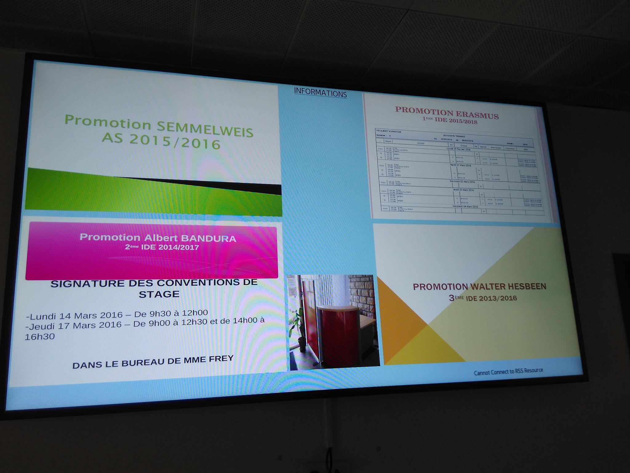 Des informations sur écran dynamique