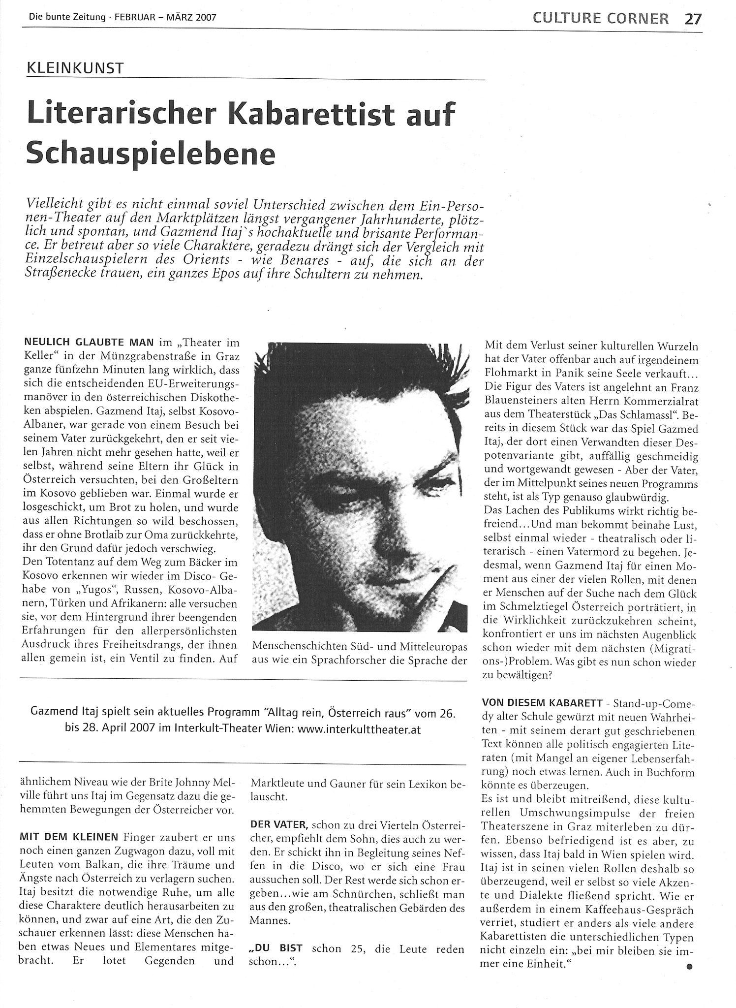 Die bunte Zeitung von Februar  März 2007