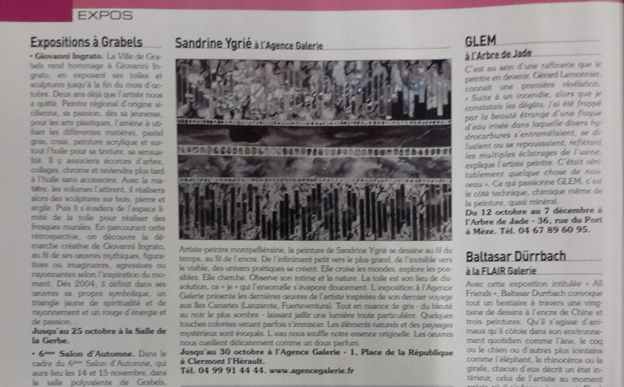 Magazine l'Art vues- oct /2015
