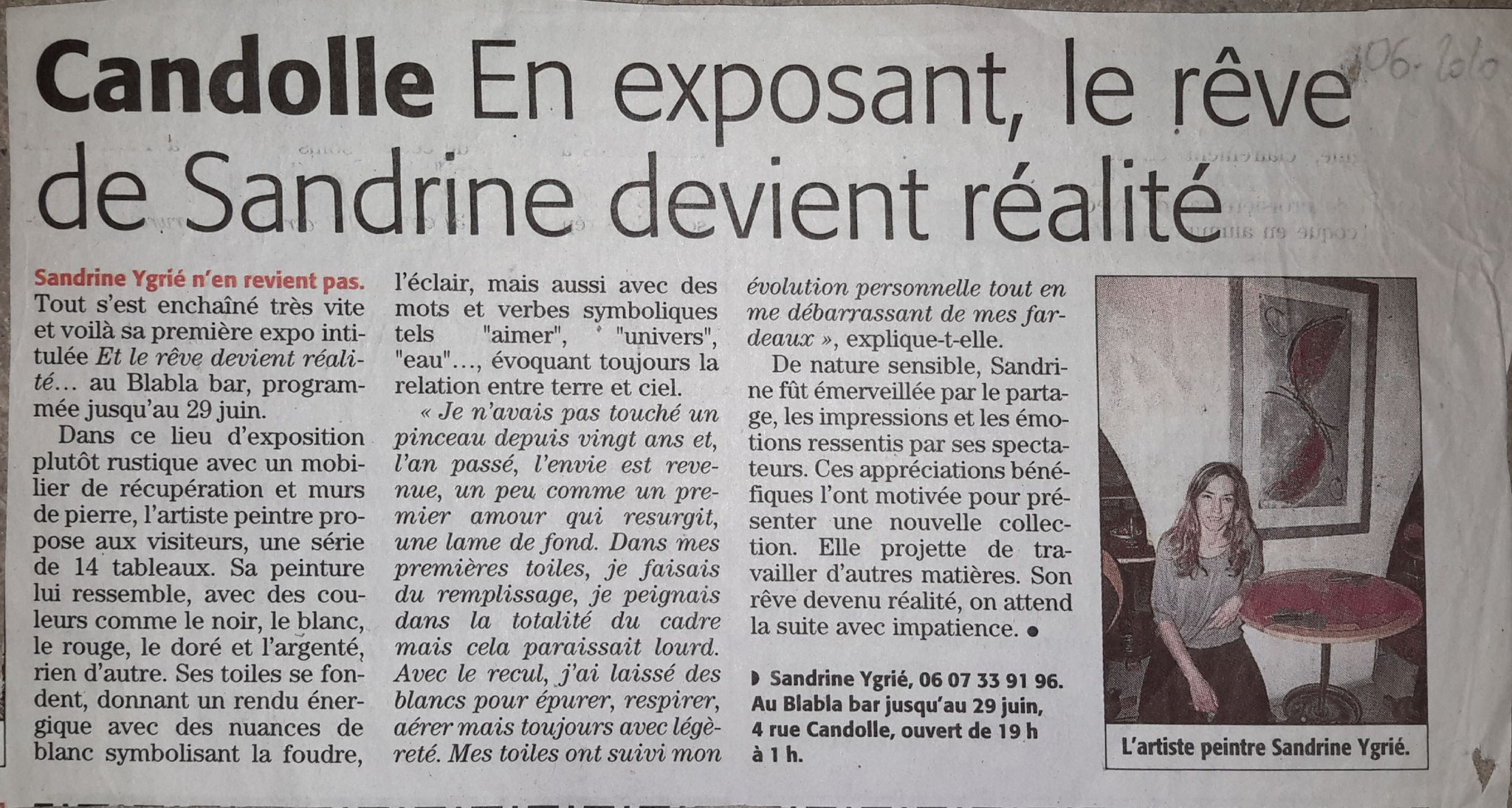 Article Midi-Libre 06/2010