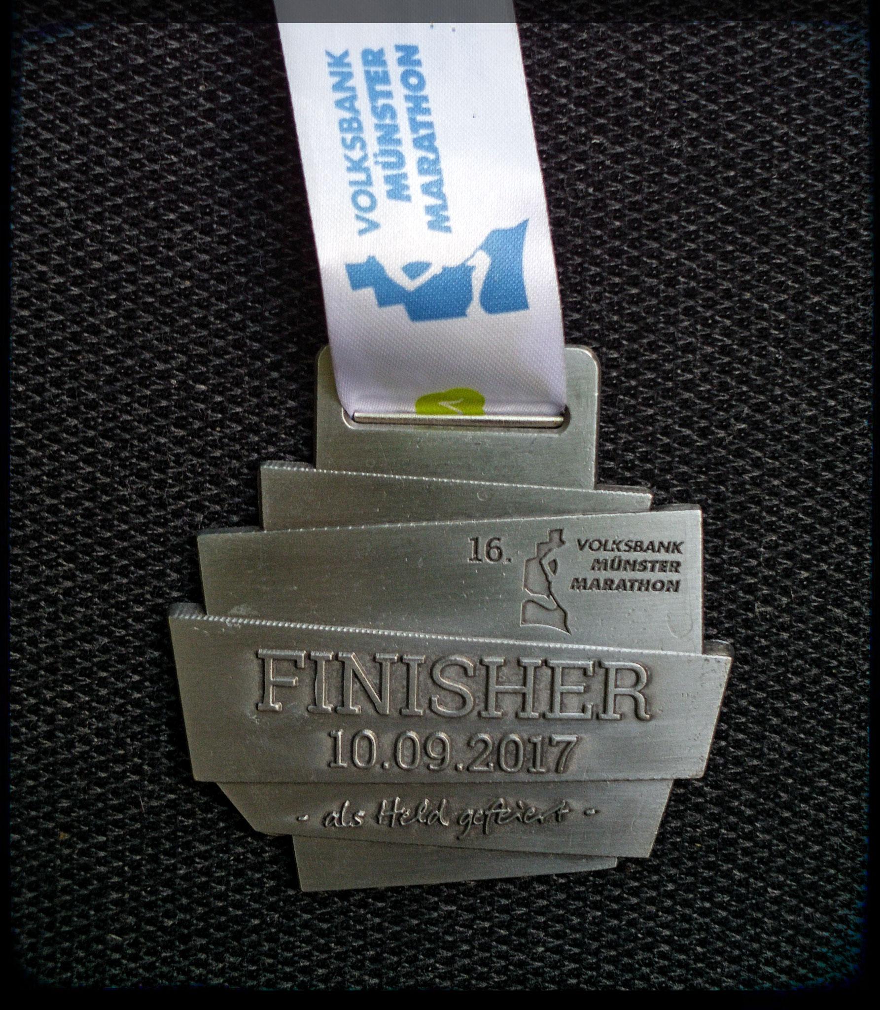Münster Marathon 2017 - Medaille