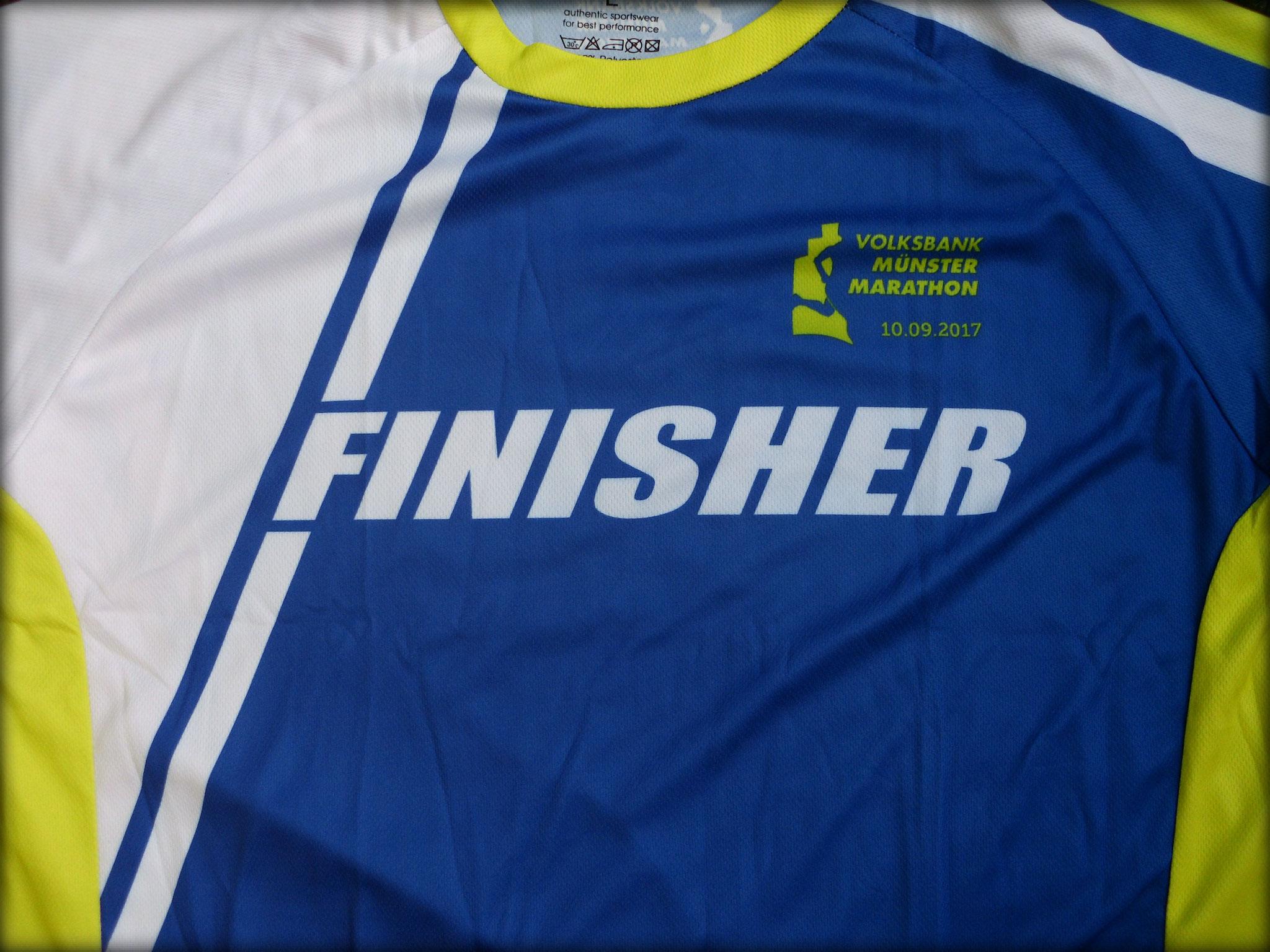 Münster Marathon 2017 - Finisher-Shirt