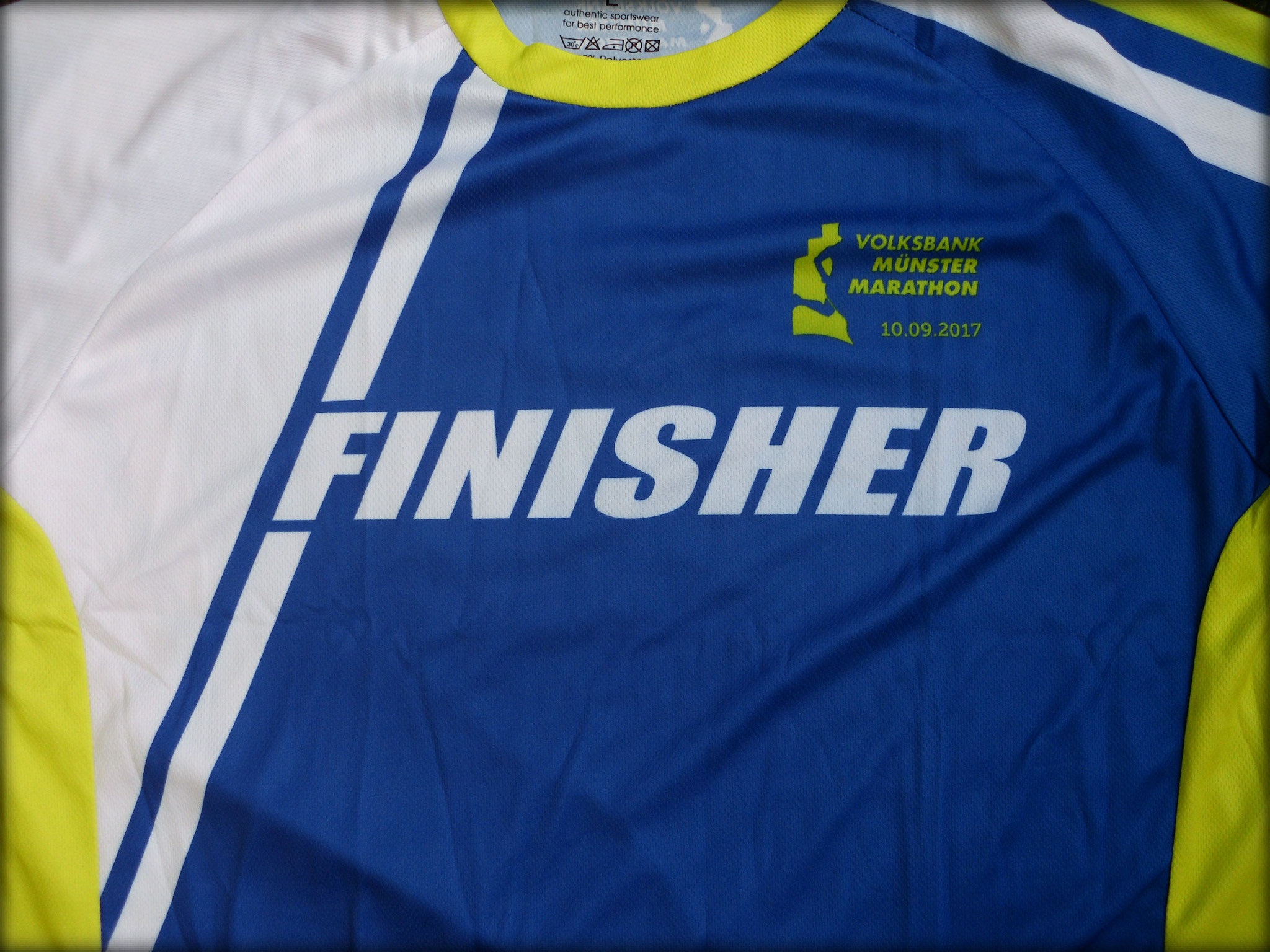 Münster Marathon 2017 - Finisher-Shirt