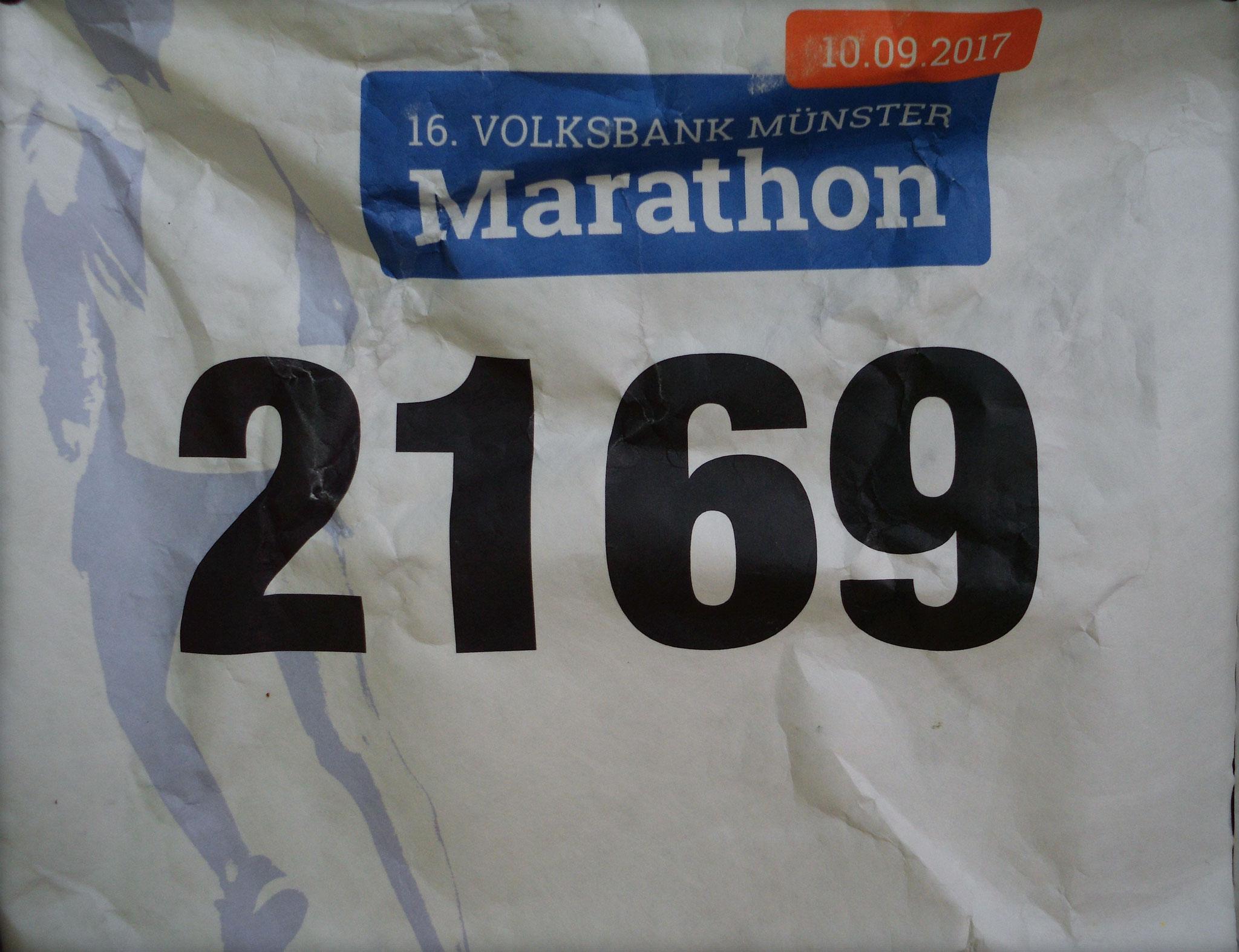 Münster Marathon 2017 - Startnummer