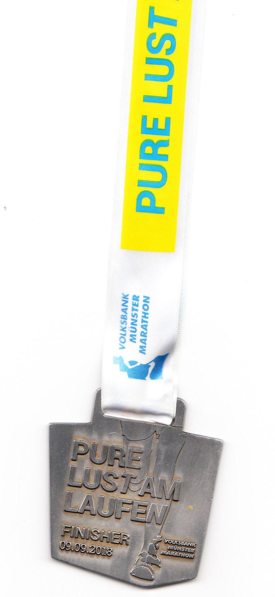 Münster Marathon 2018 - Medaille