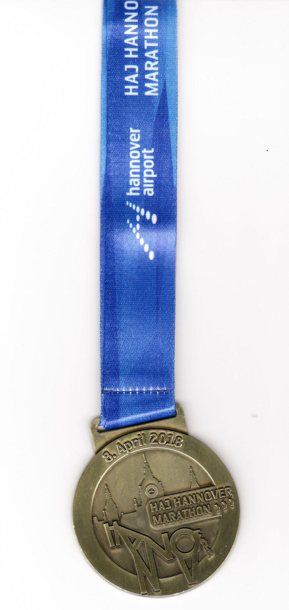 Hannover Marathon 2018 - Medaille Marathon 42,195 KM