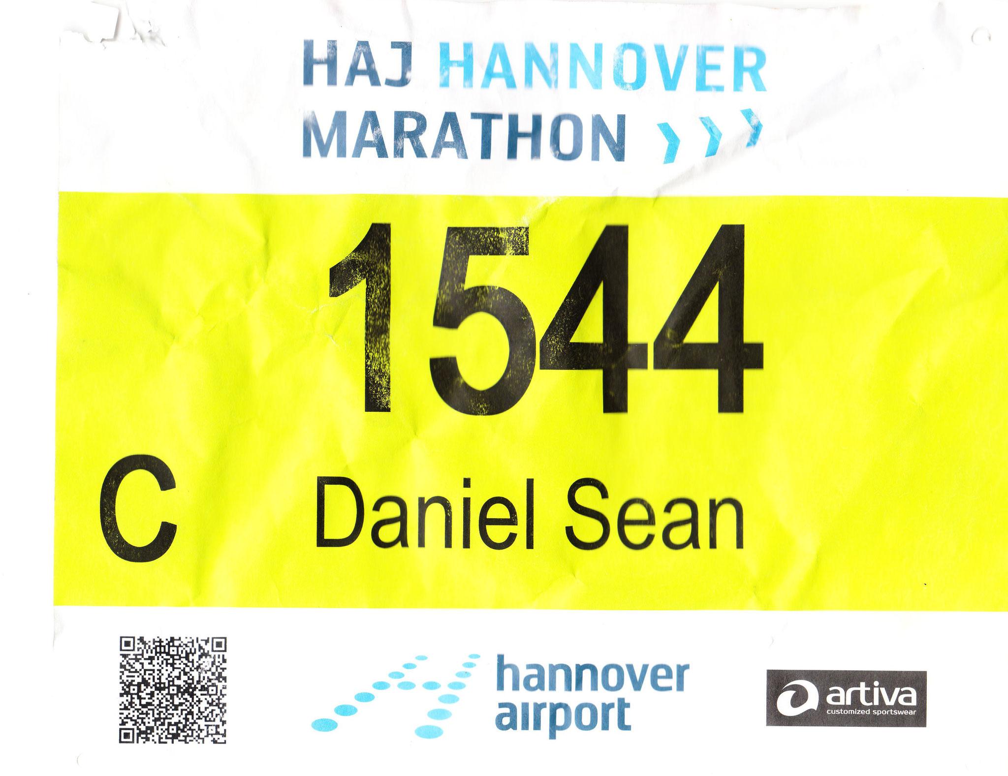Hannover Marathon 2018 - Startnummer