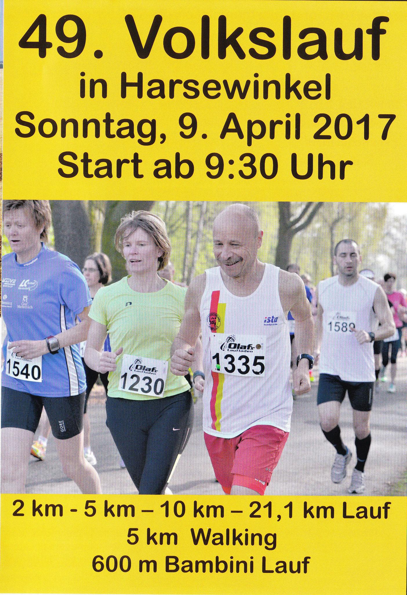 Volkslauf Harsewinkel (Halbmarathon) 2017 - Broschüre