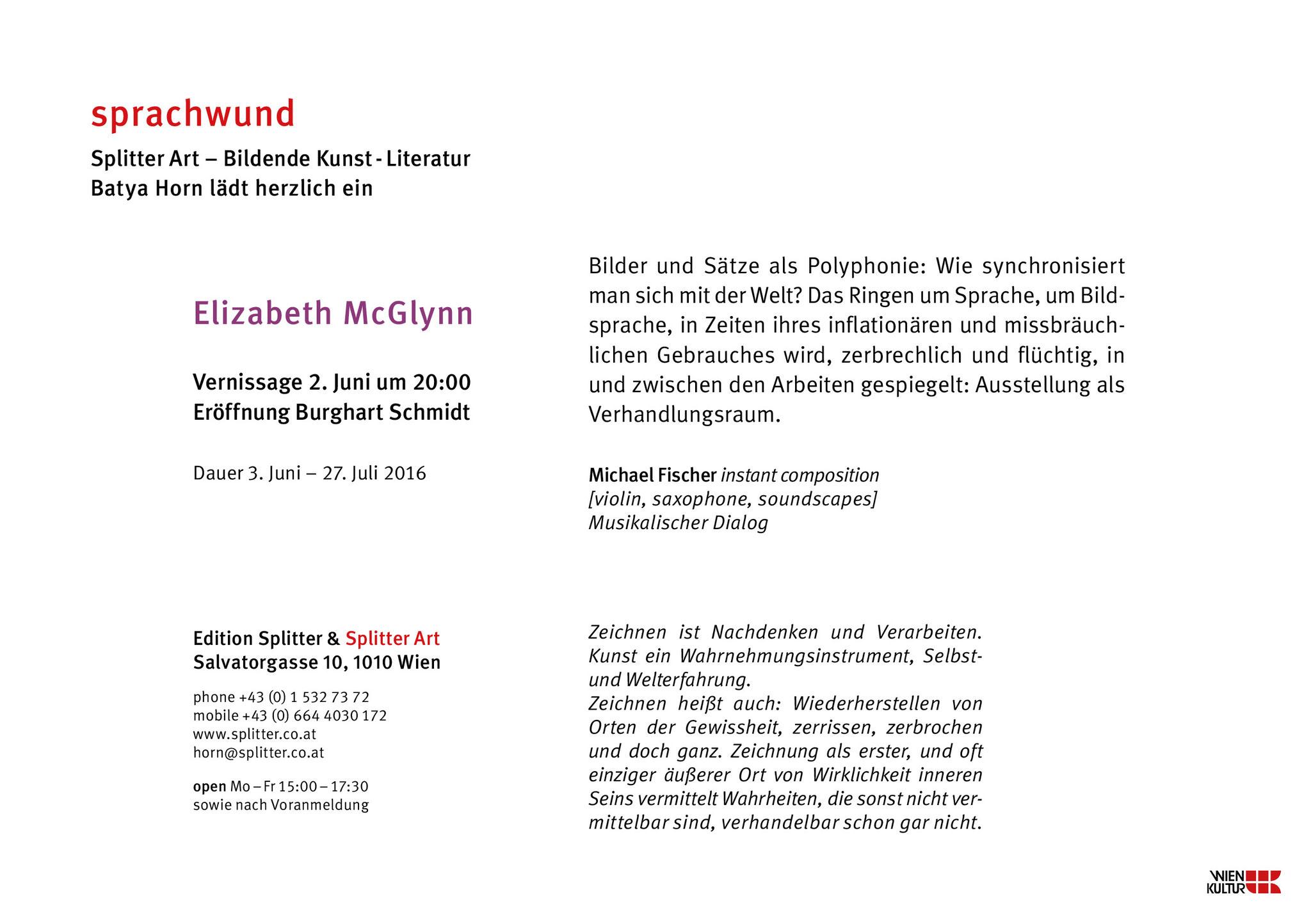 sprachwund -Elizabeth McGlynn