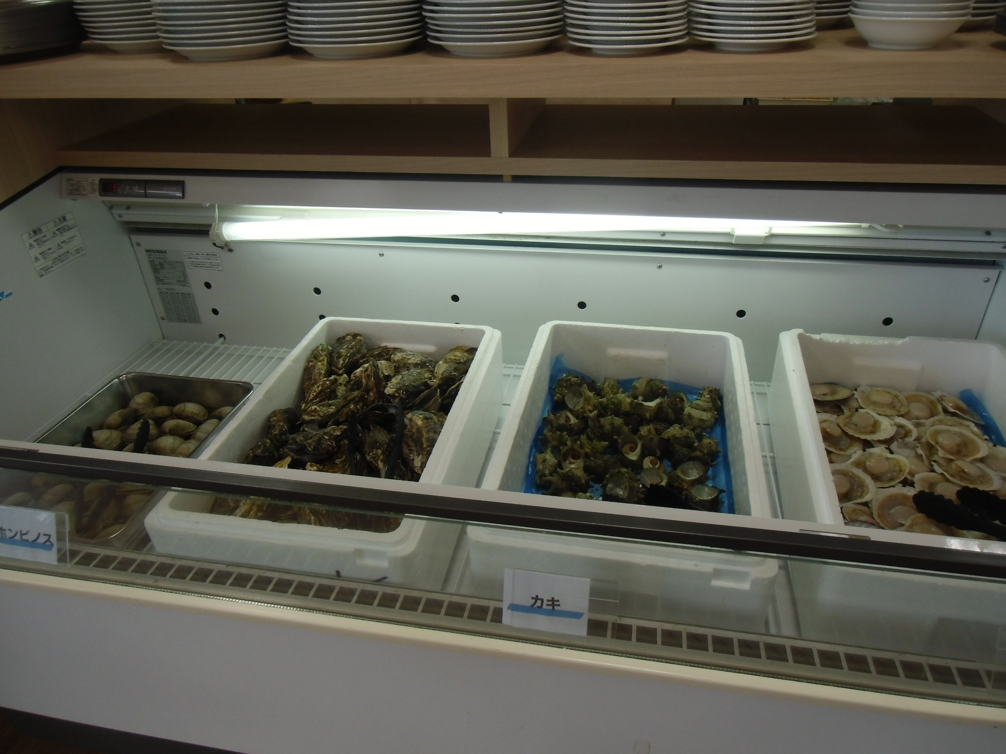 海の駅千鳥苑海鮮バーべキュー 材料はバイキング形式で