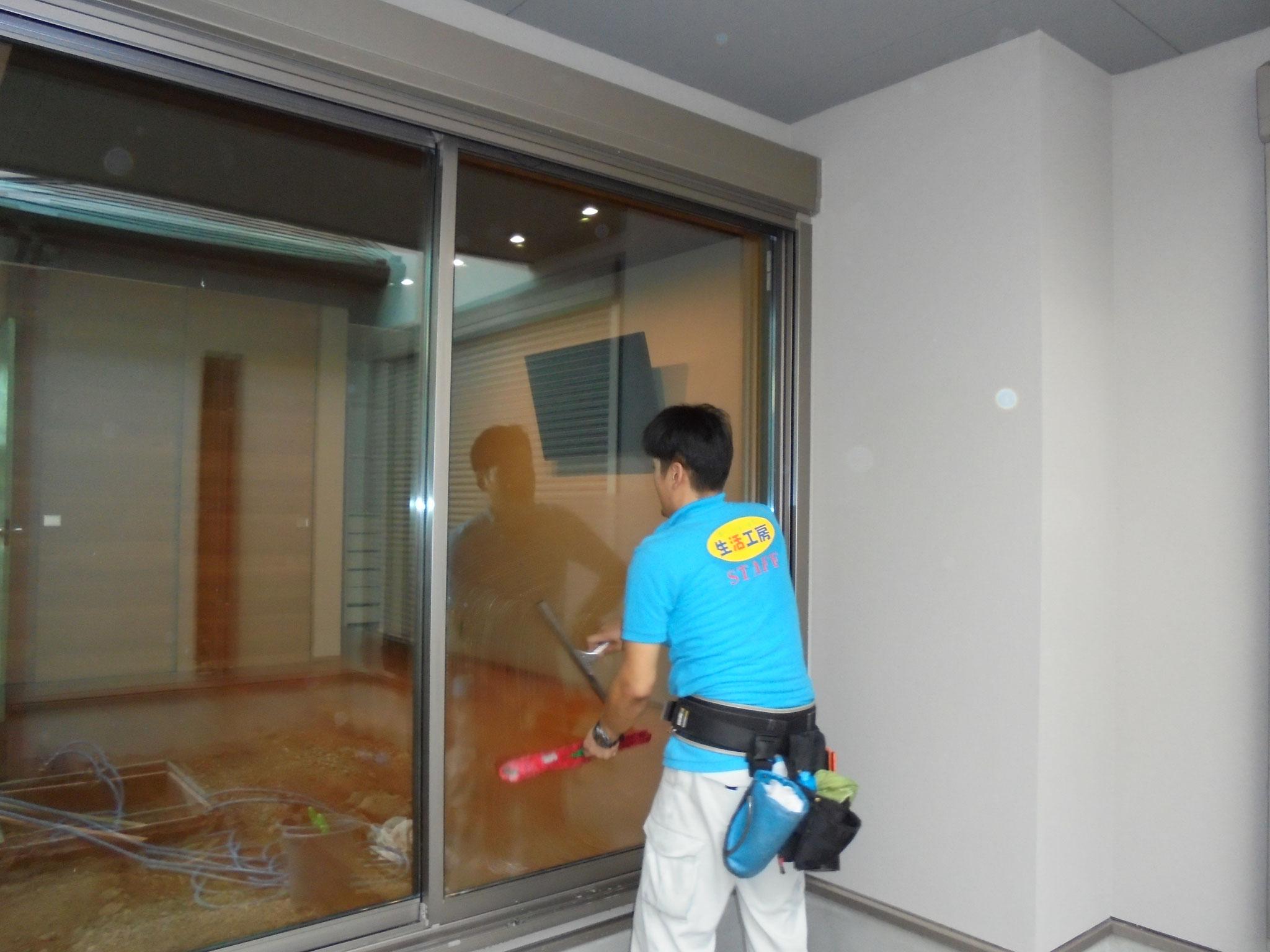 一戸建て ガラス・サッシ清掃