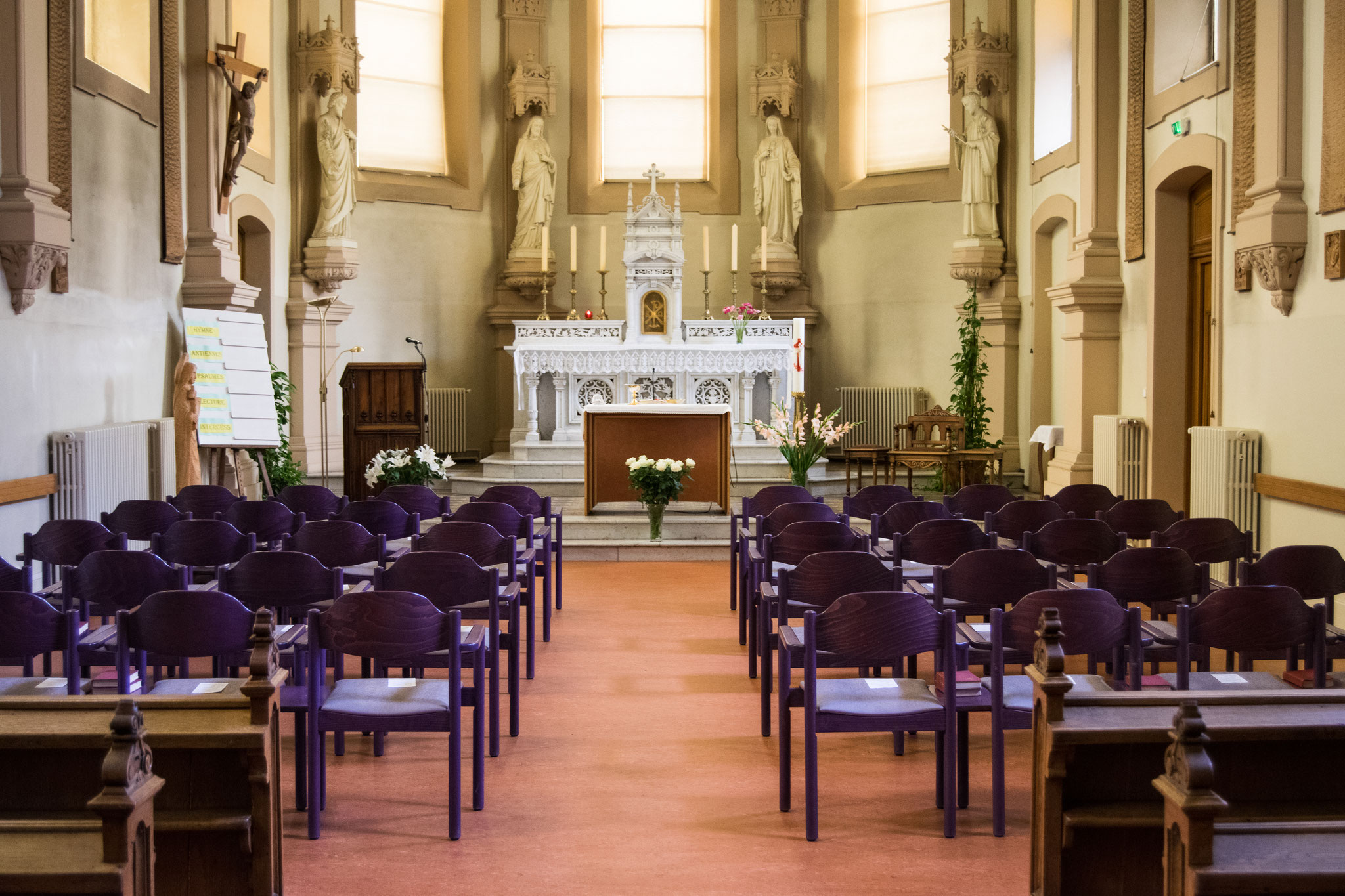 Intérieur de la chapelle sainte Chrétienne